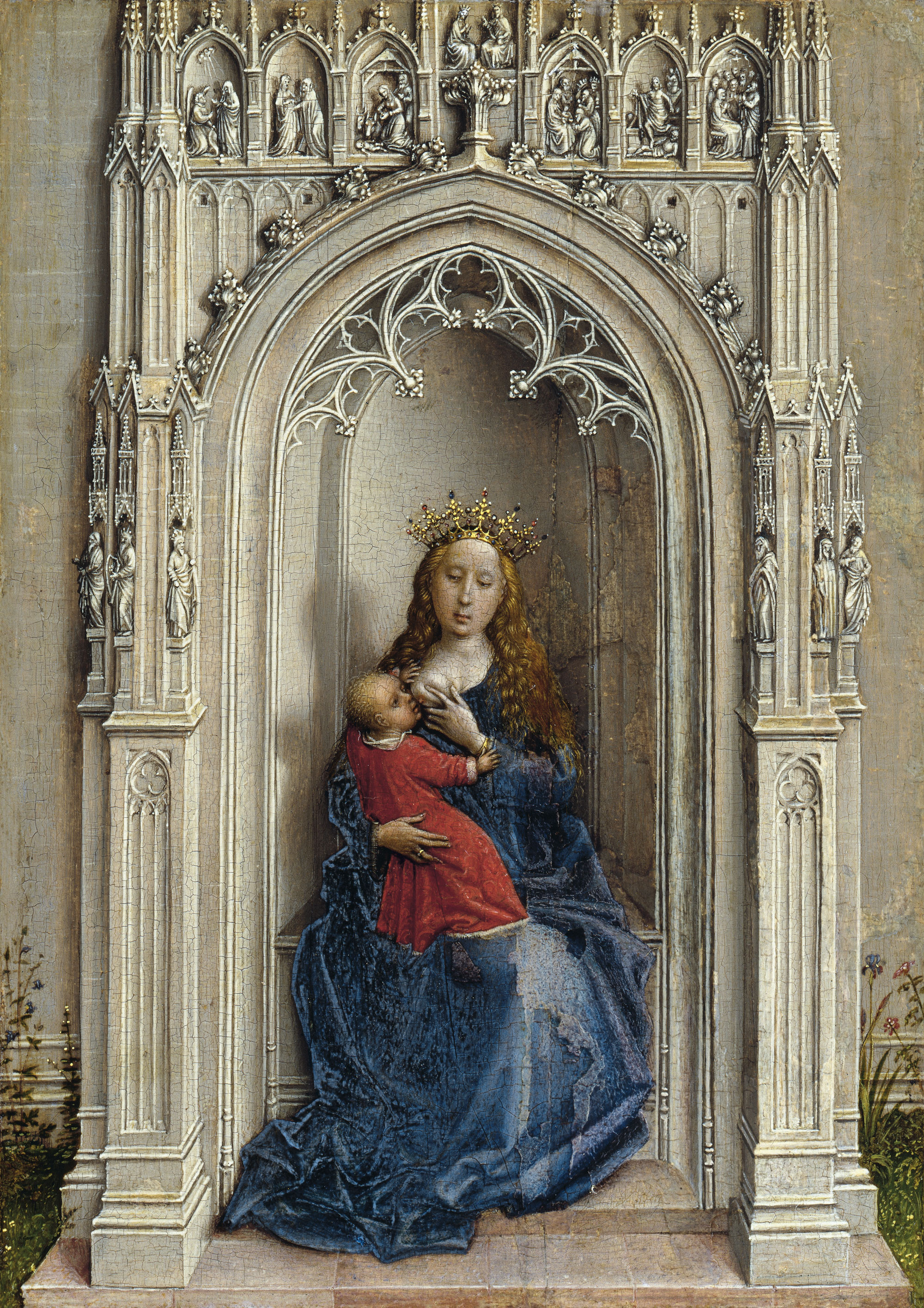 The Virgin and Child enthroned, 1433 — Rogier van der Weyden