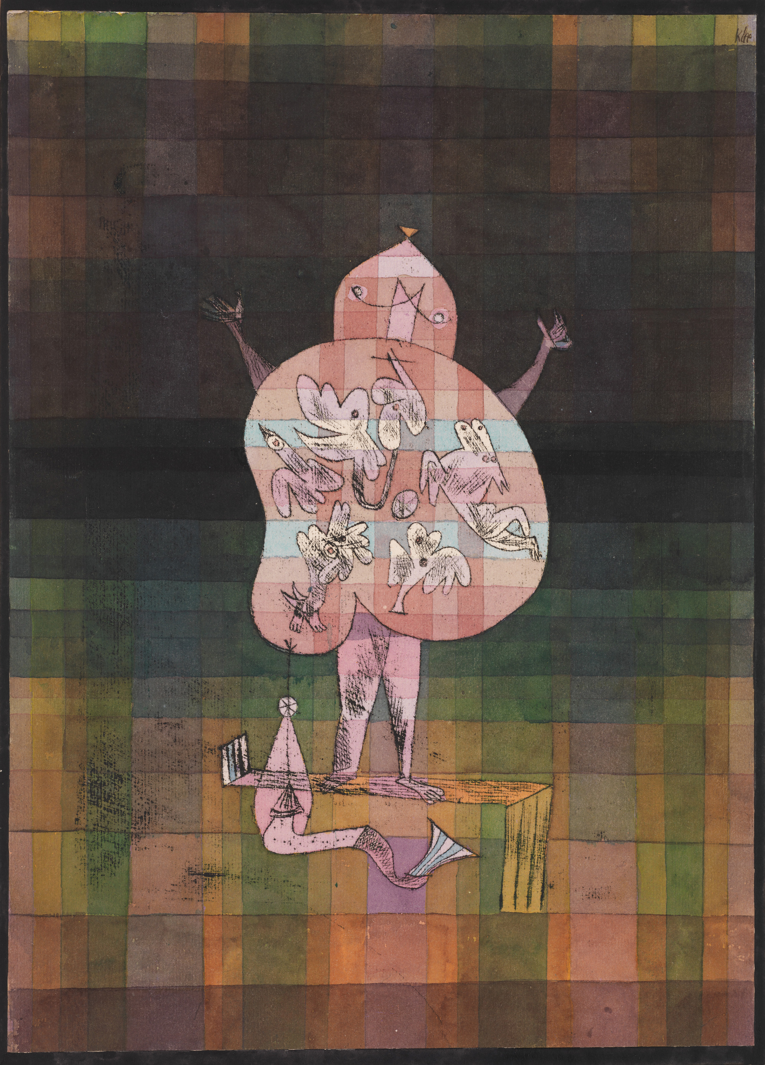Ventriloquist and Crier in the Moor, 1923 — Paul Klee