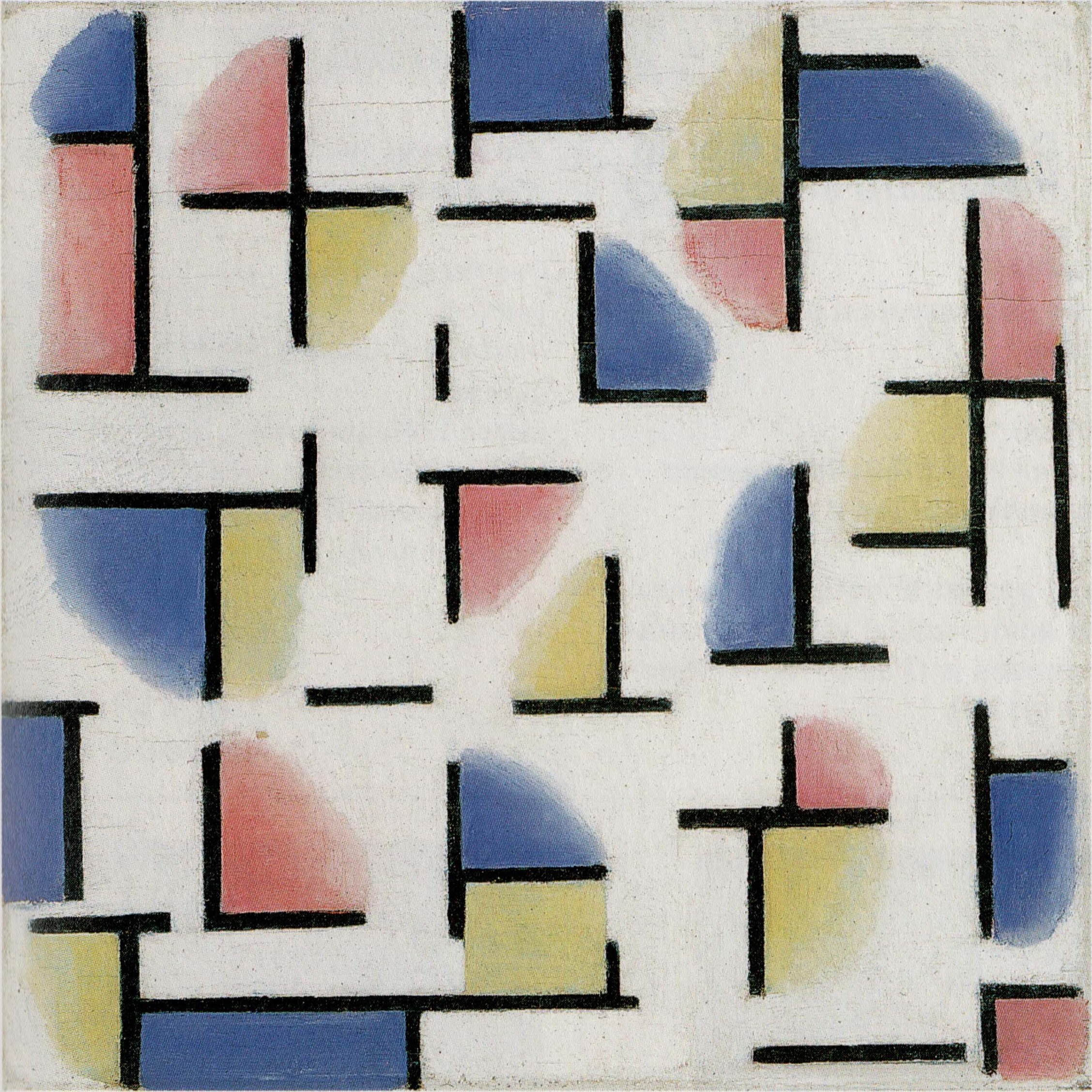 Variation on Composition XIII, 1918 — Theo van Doesburg,