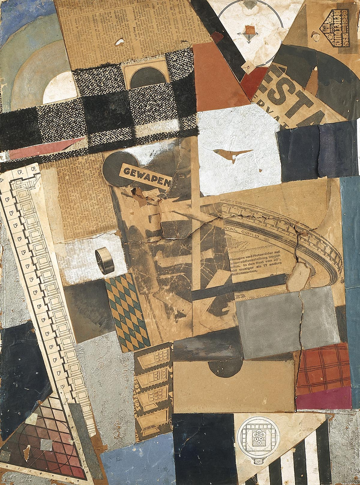 The Denaturalized Material, Destruction 2, 1923 — Theo van Doesburg,