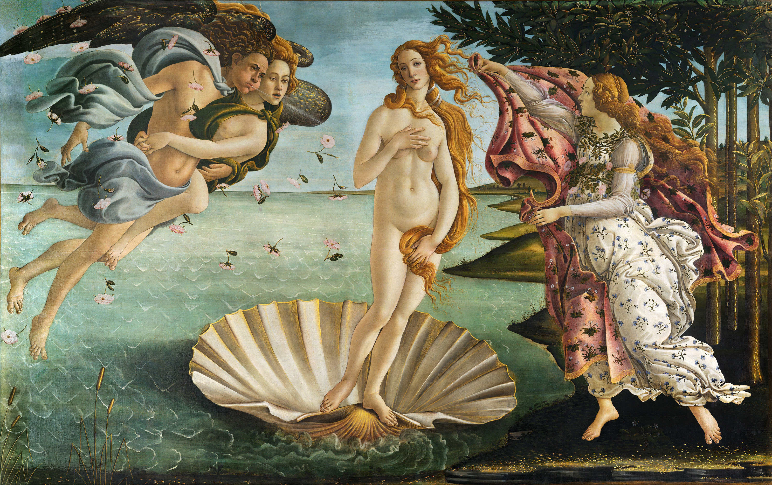 The Birth of Venus, 1485 — Sandro Botticelli,