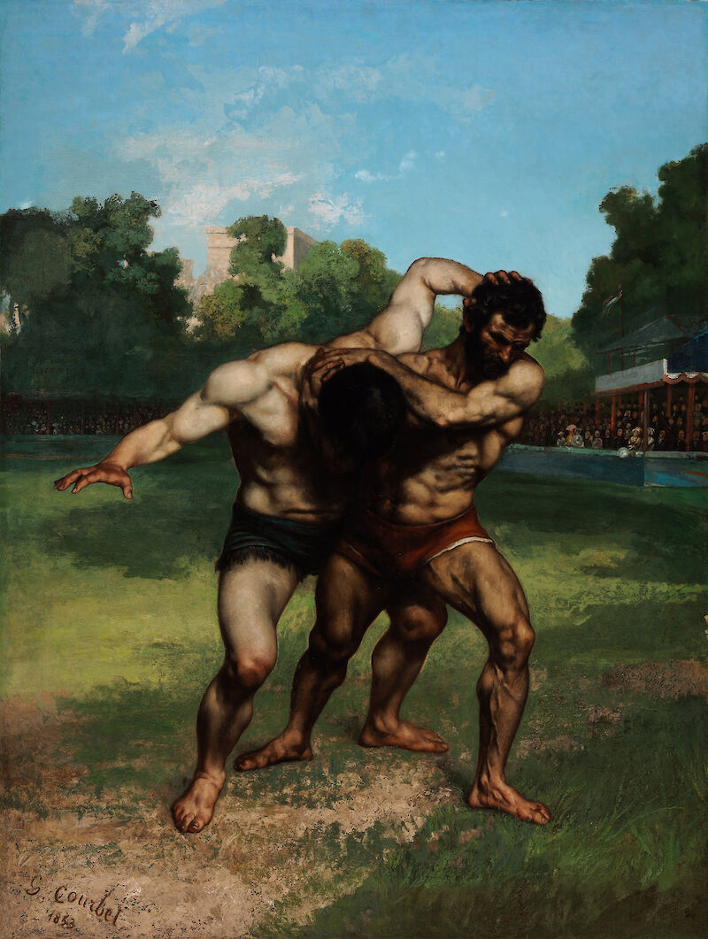 The Wrestlers, 1853, Gustave Courbet