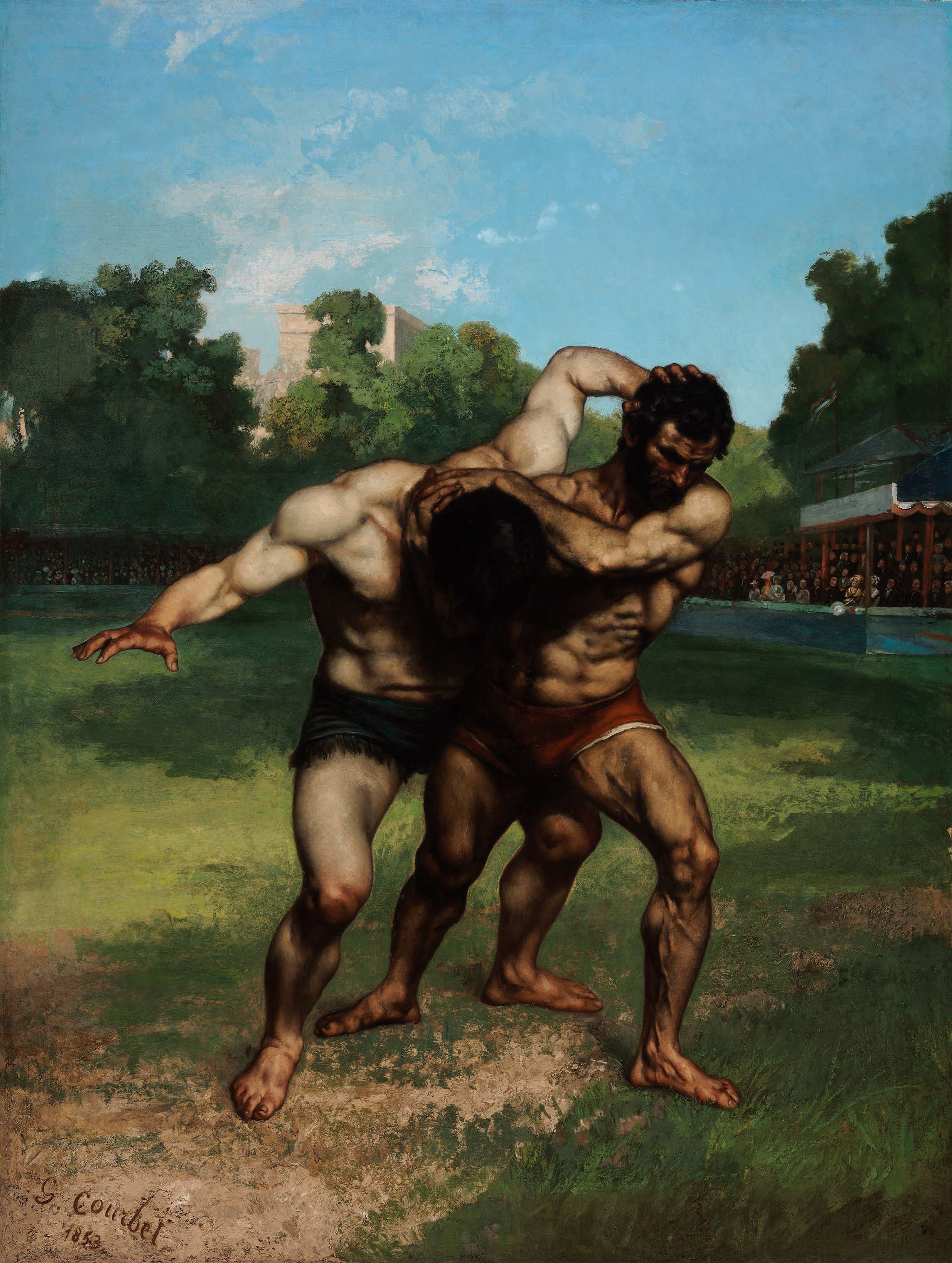 The Wrestlers, 1853 — Gustave Courbet