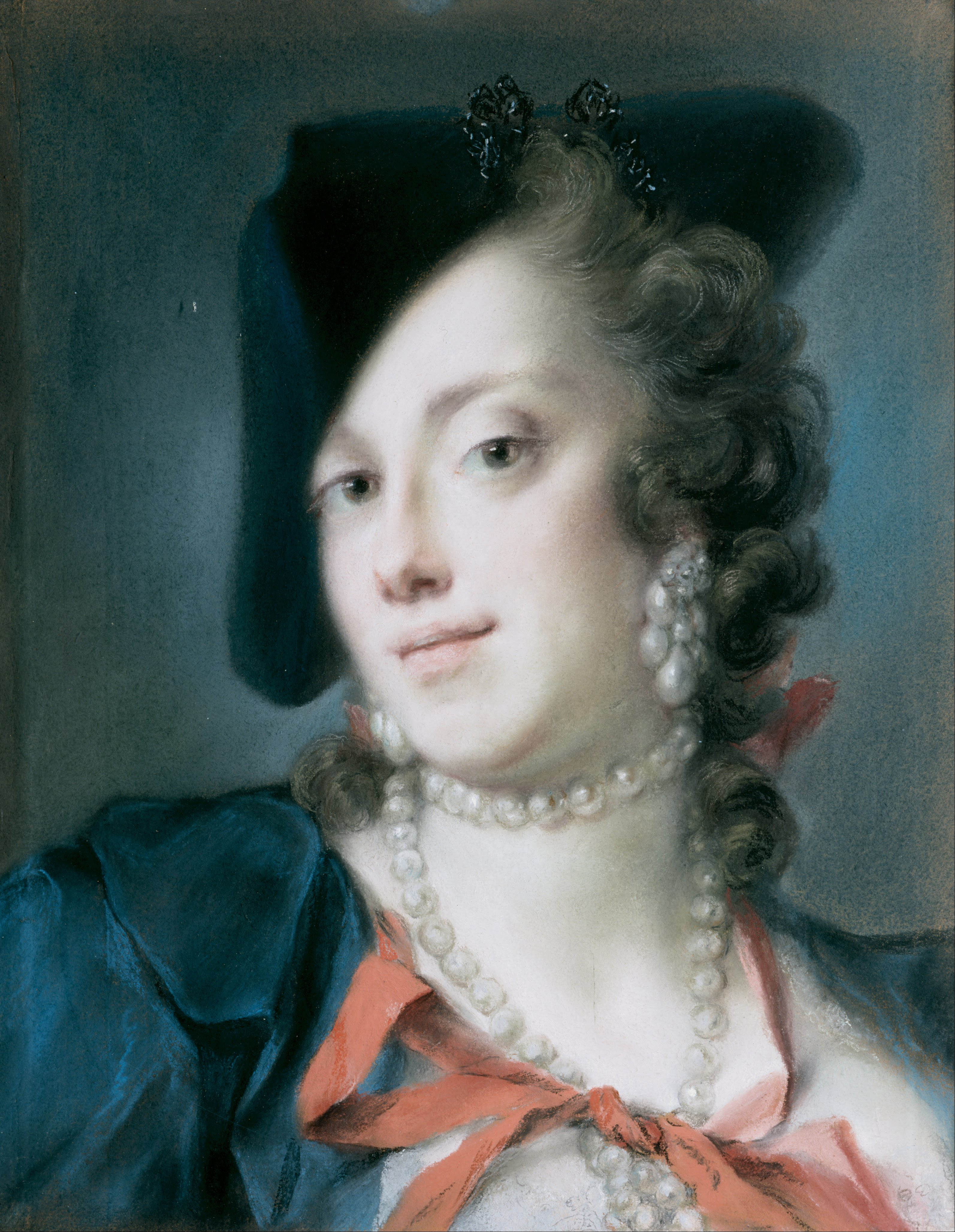 A Venetian Lady from the House of Barbarigo, 1740 — Rosalba Carriera