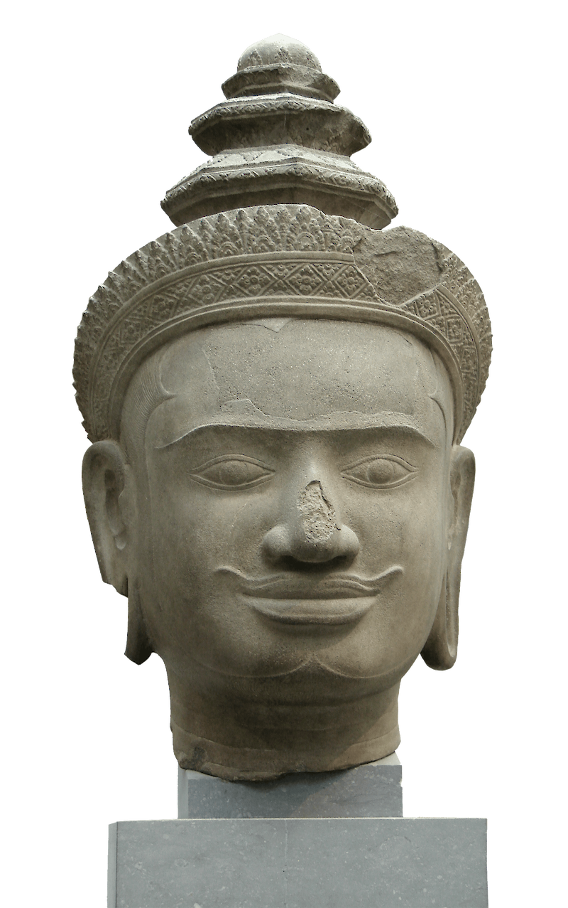 Head of Vishnu, 925 CE, Khmer Art