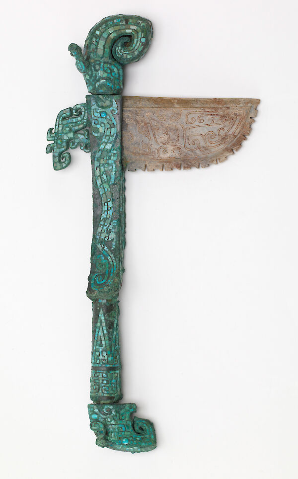 Hafted axe with dragons