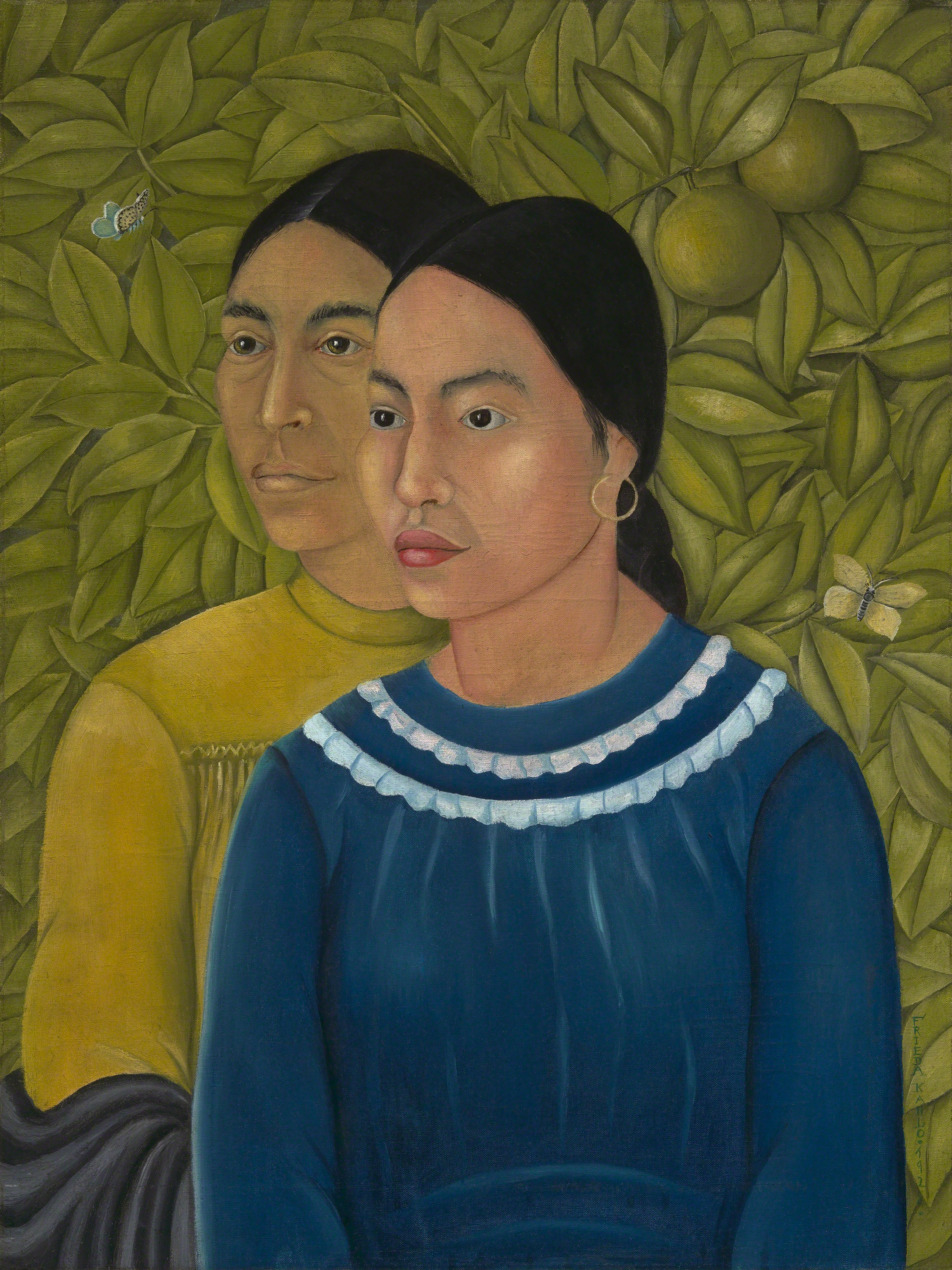 Two Women, Salvadora and Herminia, 1928 — Frida Kahlo