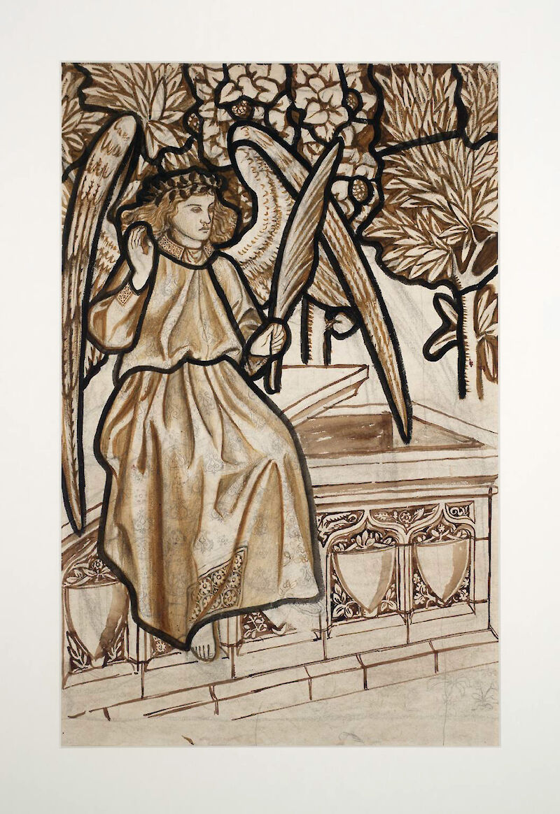 Angel of the Resurrection: Cartoon for Stained Glass