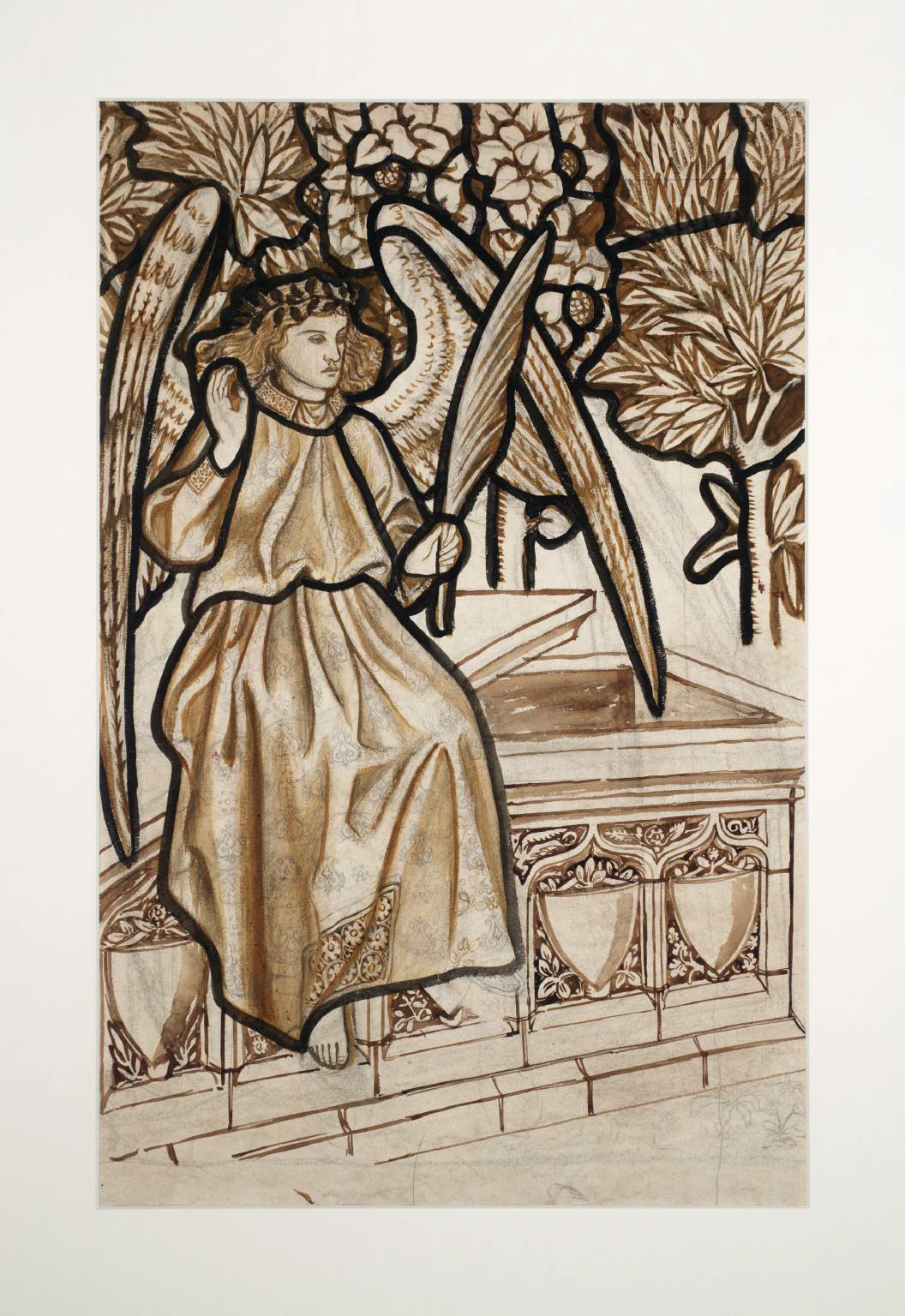 Angel of the Resurrection: Cartoon for Stained Glass, 1862 — William Morris
