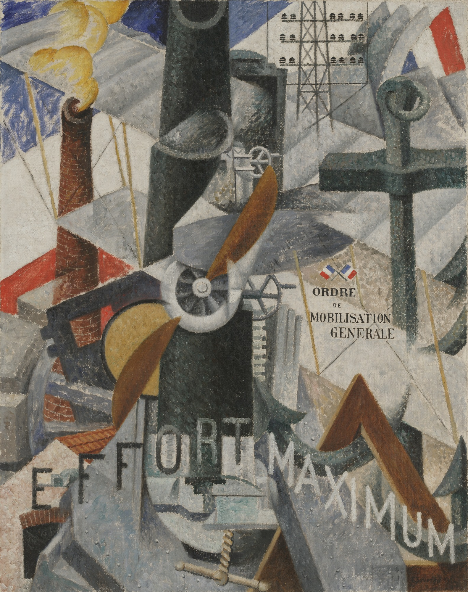 "Visual Synthesis of the Idea: ""War"", 1914 — Gino Severini,"