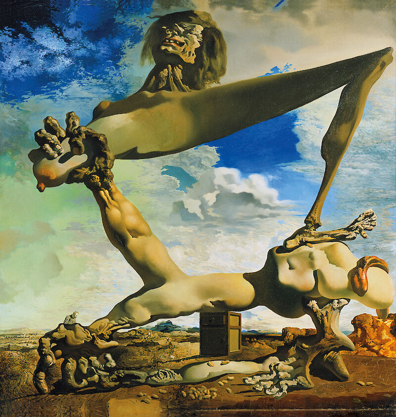 Soft Construction with Boiled Beans, 1936, Salvador Dalí