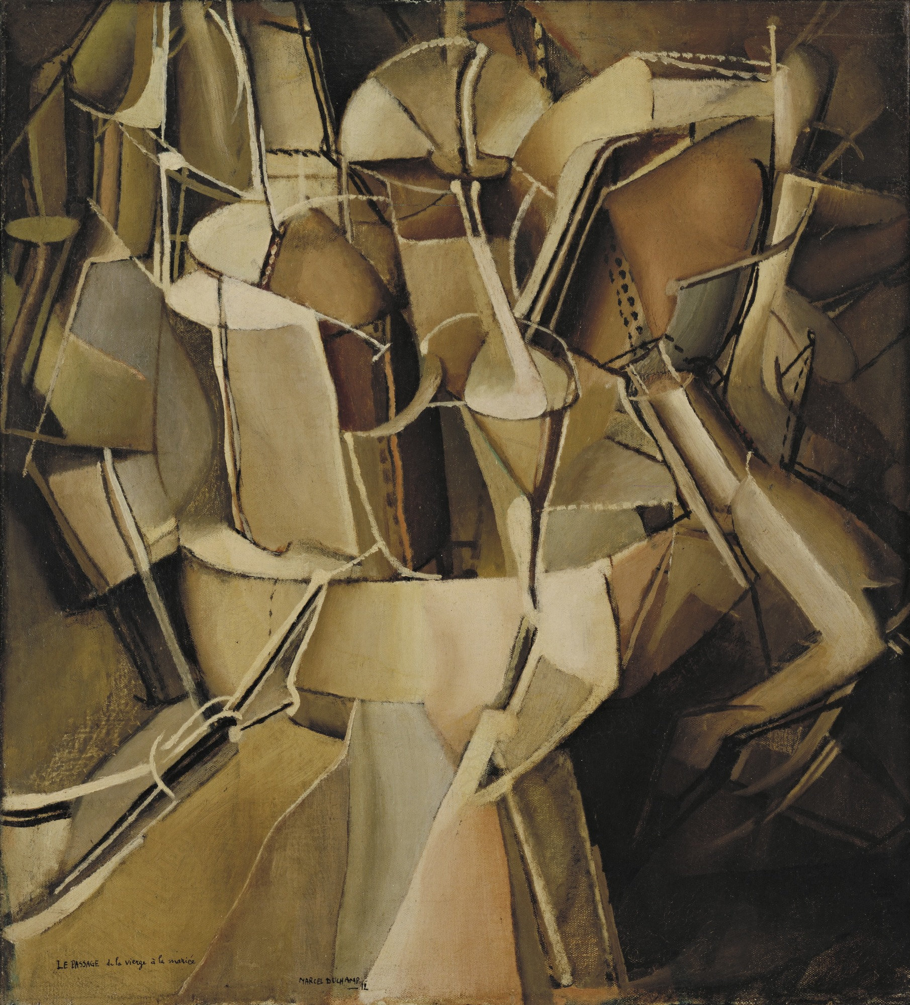 The Passage from Virgin to Bride, 1912 — Marcel Duchamp