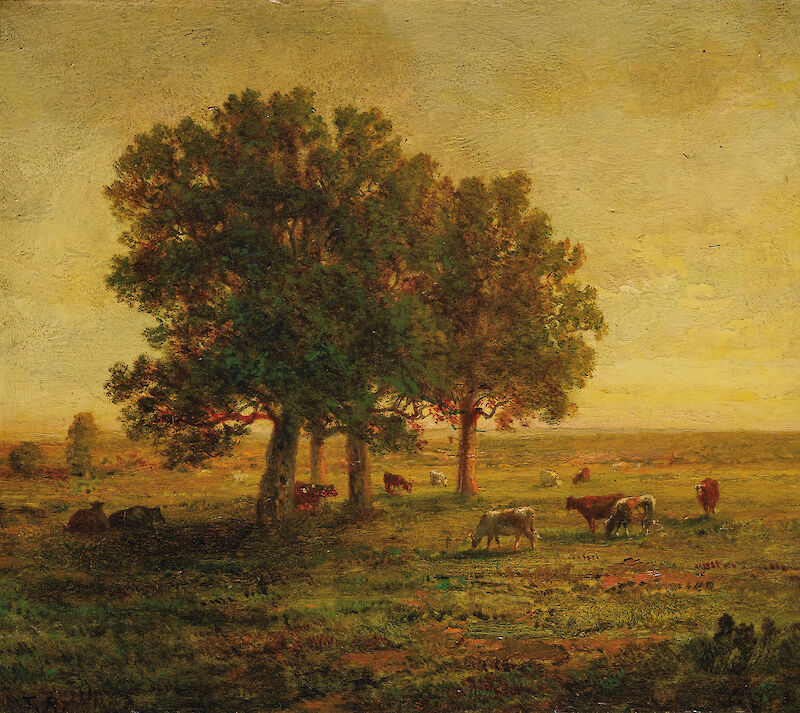 Cows in a Group of Oak Trees, Apremont