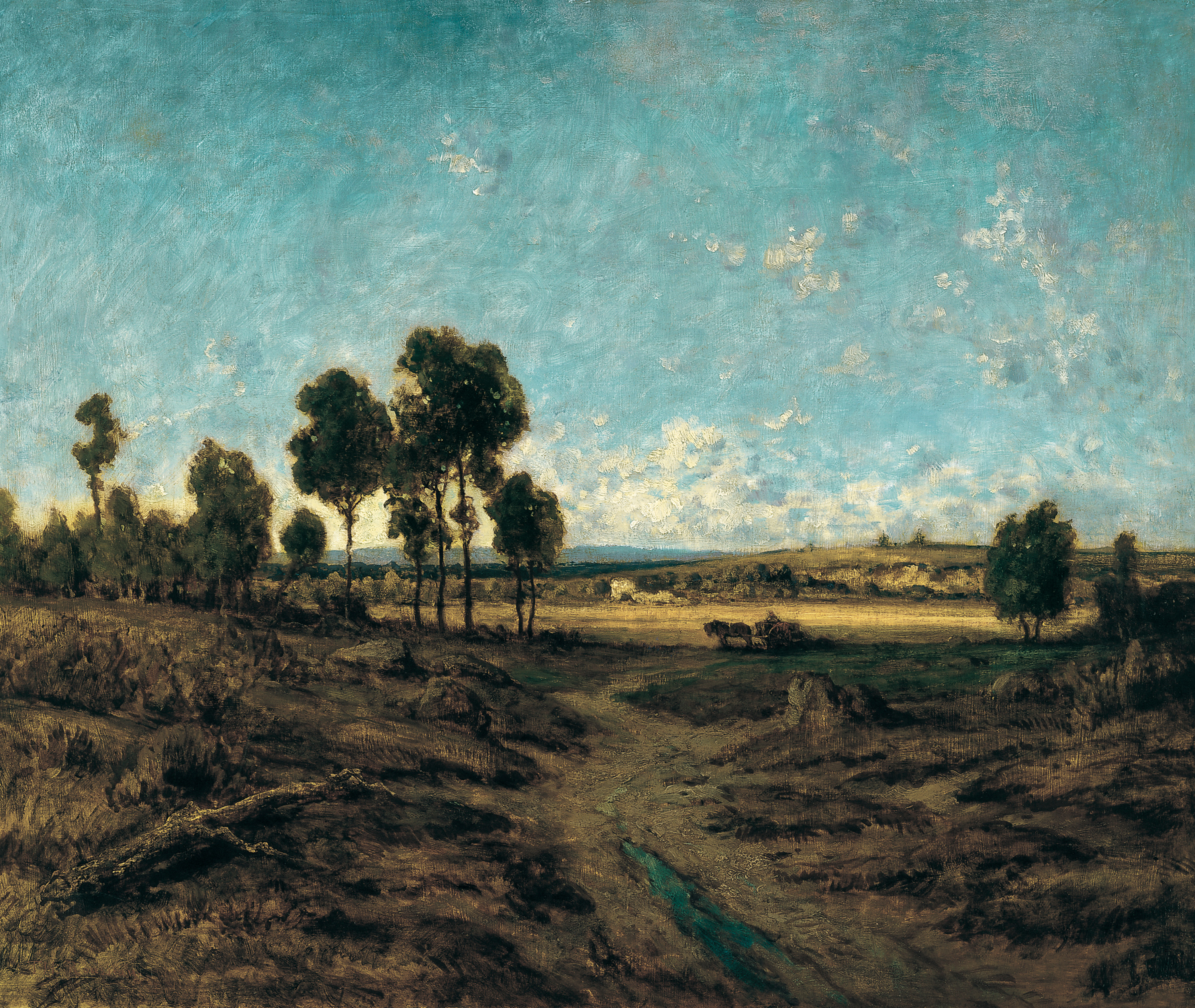 View of the Plain of Montmartre, 1848 — Théodore Rousseau