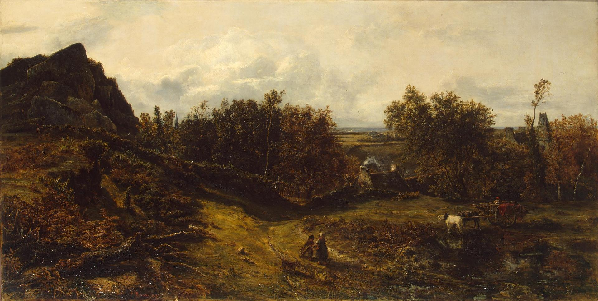 View on the Outskirts of Granville, 1833 — Théodore Rousseau