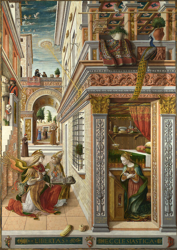 The Annunciation, with St. Emidius