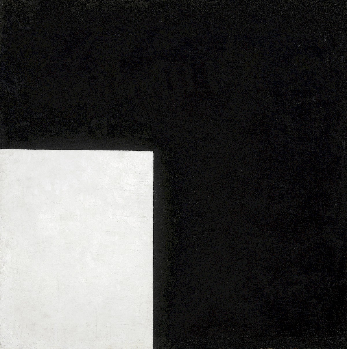 Black And White Suprematist Composition By Kazimir Malevich