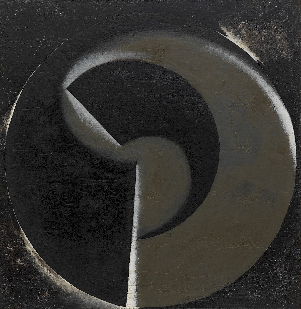 Non Objective Painting No 80 Black On Black By