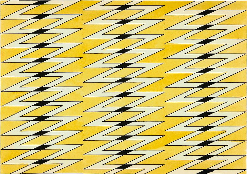 Textile Design in Yellow and Black