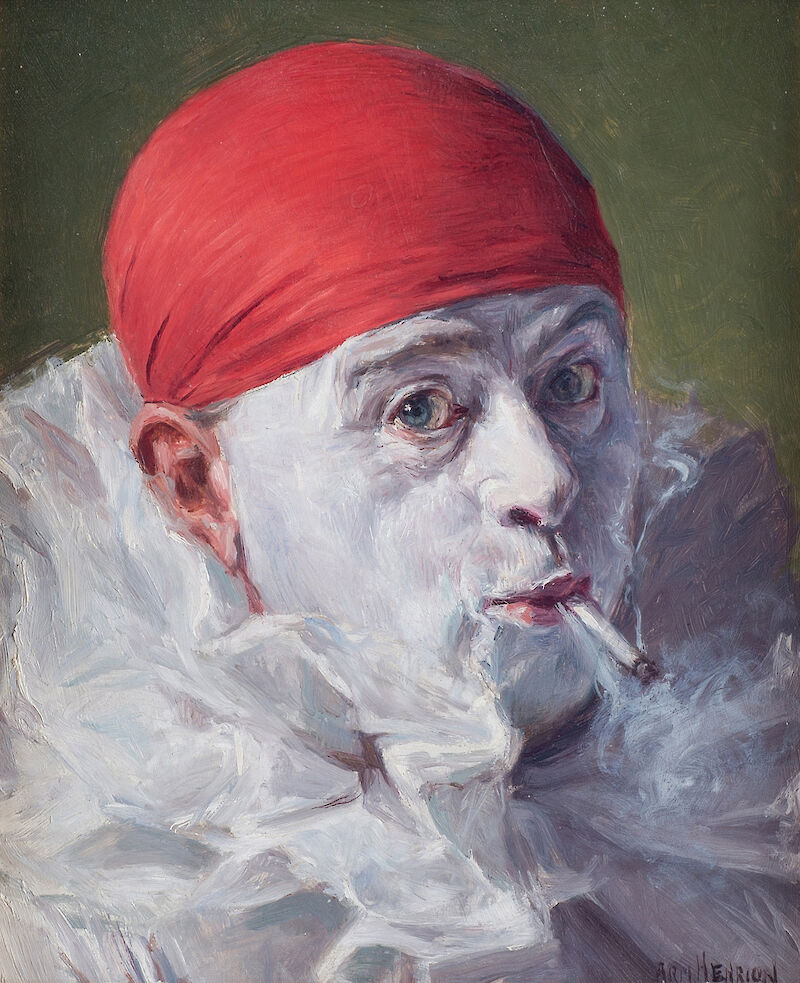 Self Portrait with Red Cap, 1930, Armand Henrion
