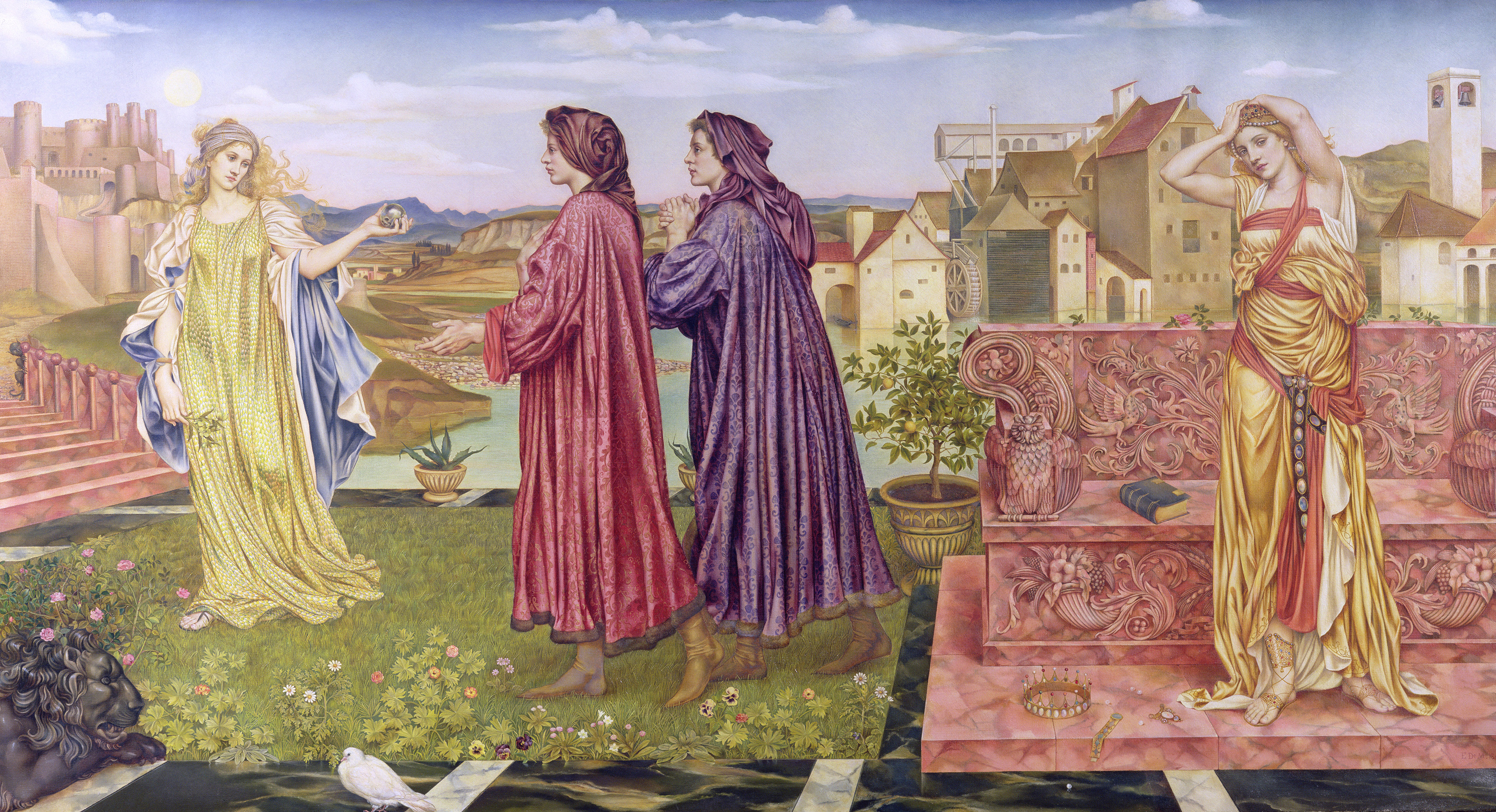 The Garden of Opportunity, 1892 — Evelyn De Morgan