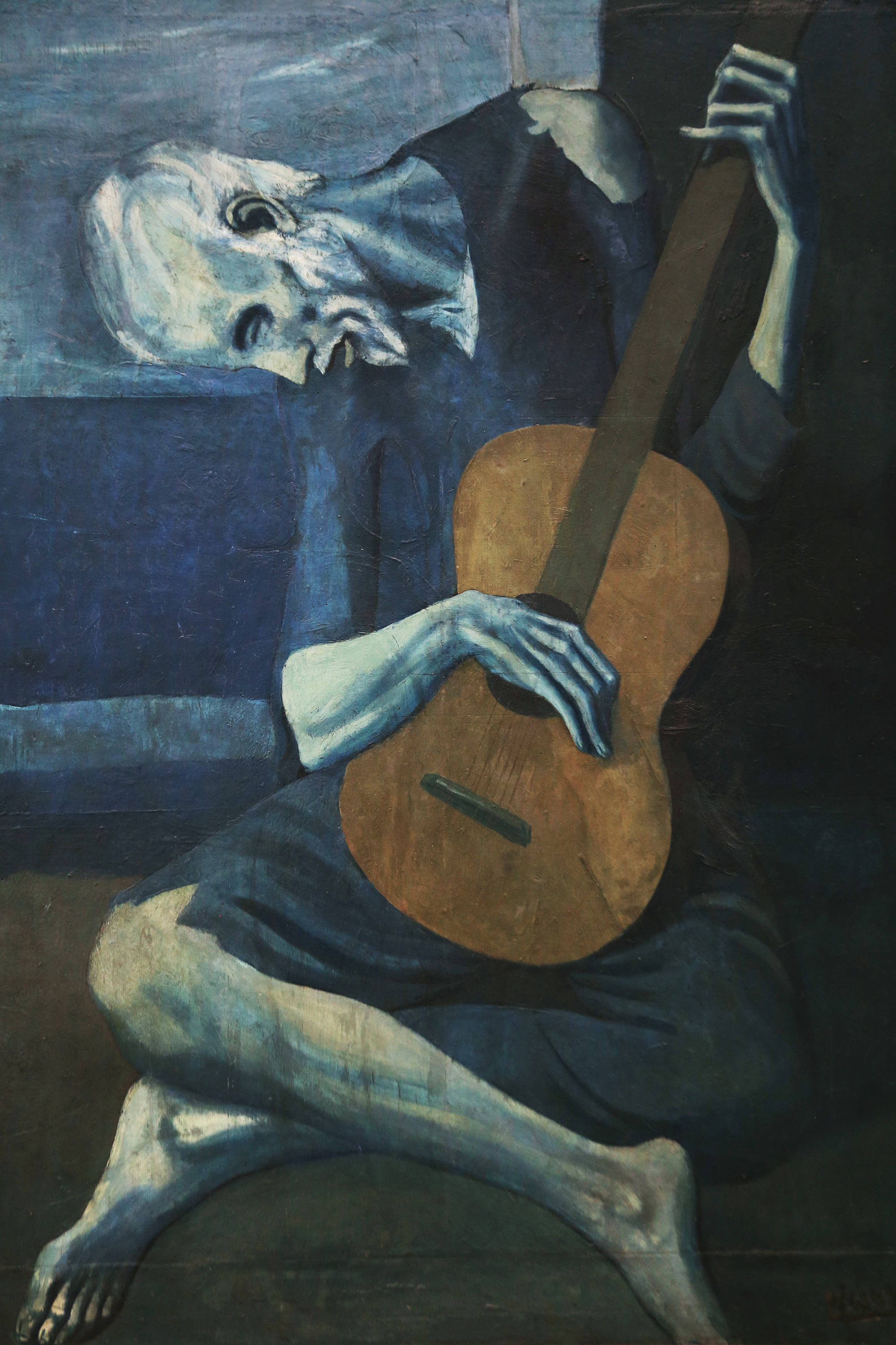 The Old Guitarist, 1904 — Pablo Picasso,