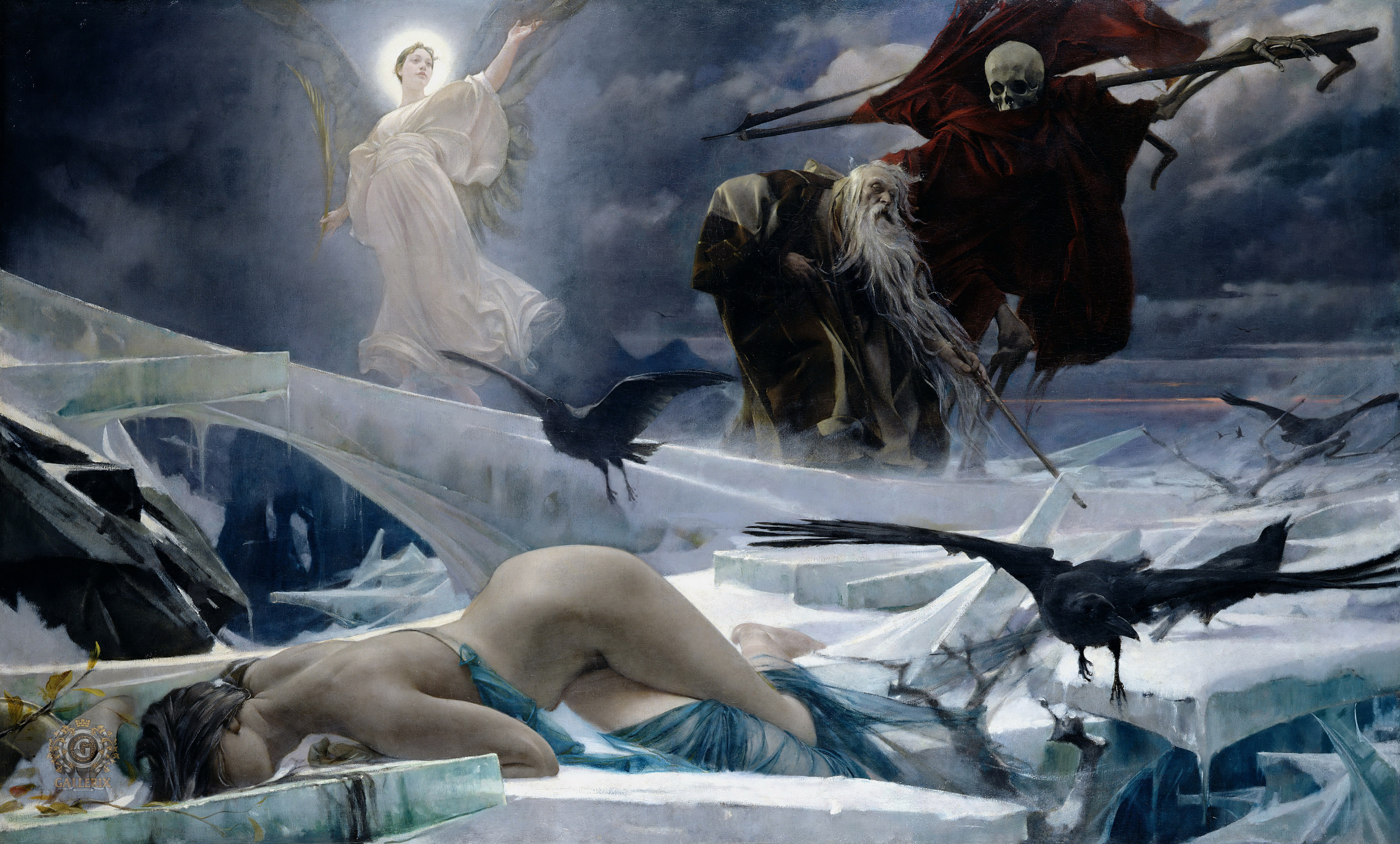 Ahasuerus at the End of the World, 1888 — Adolf Hirémy-Hirschl,