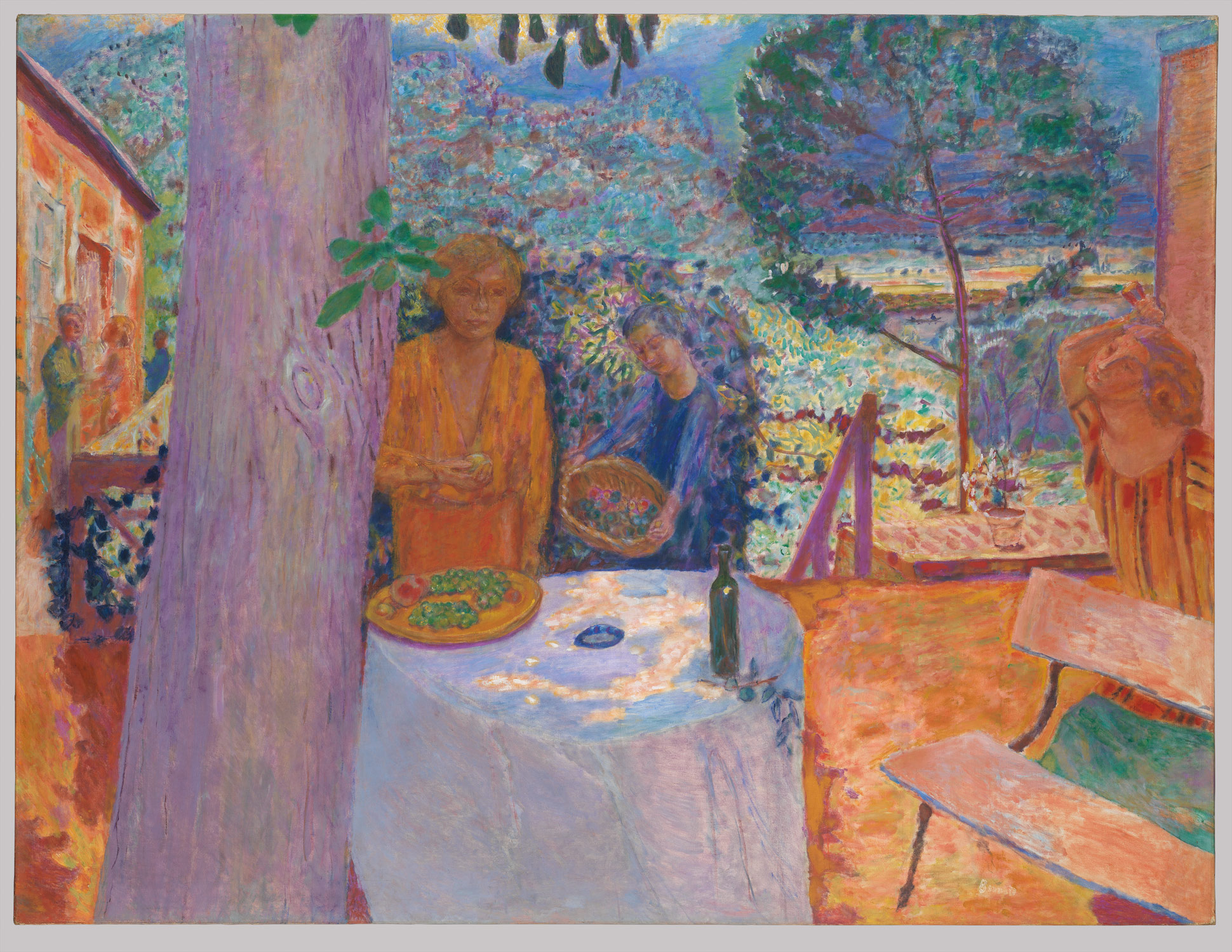 The Terrace at Vernonnet, 1939 — Pierre Bonnard,