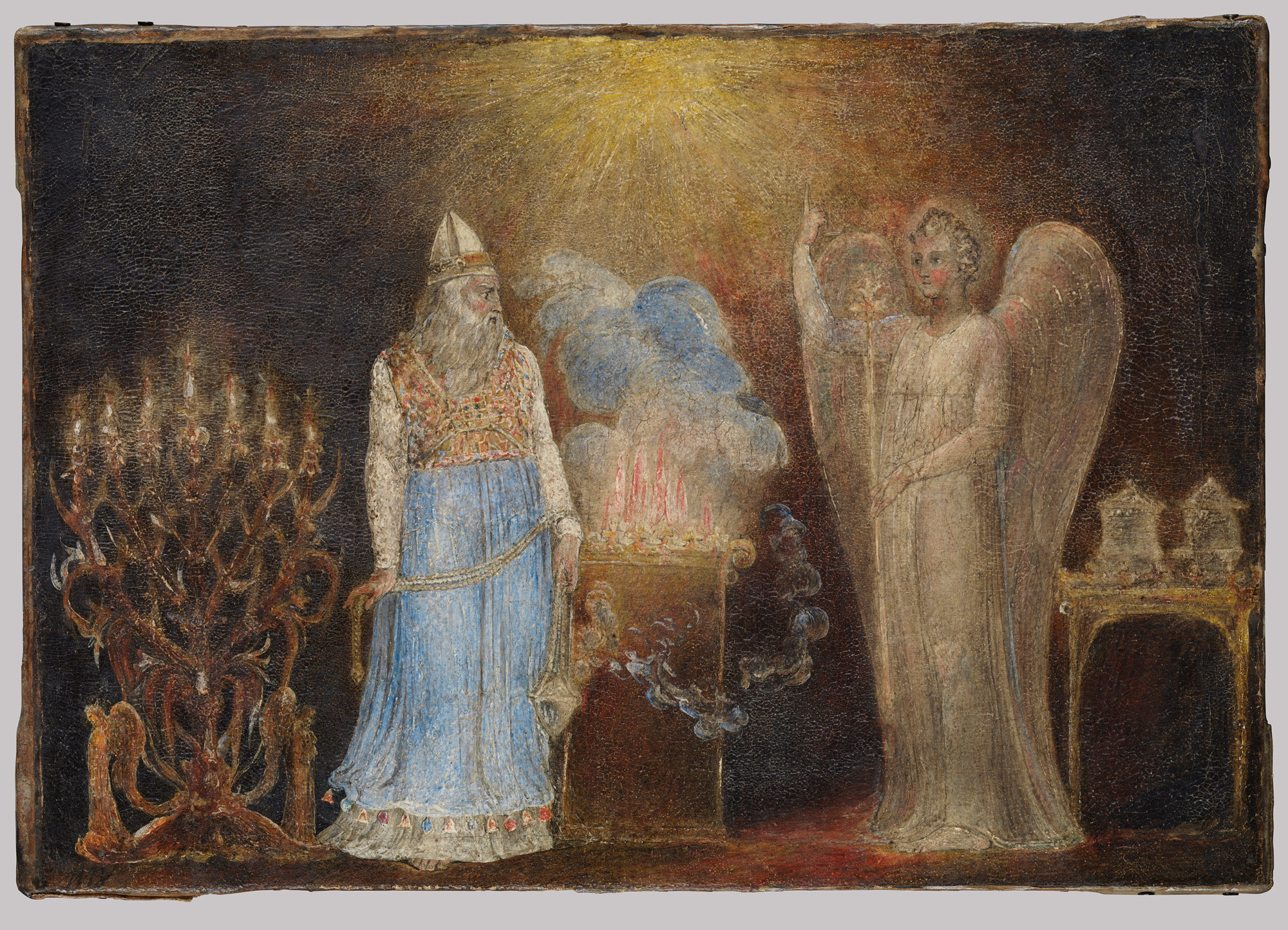 The Angel Appearing to Zacharias, 1800 — William Blake