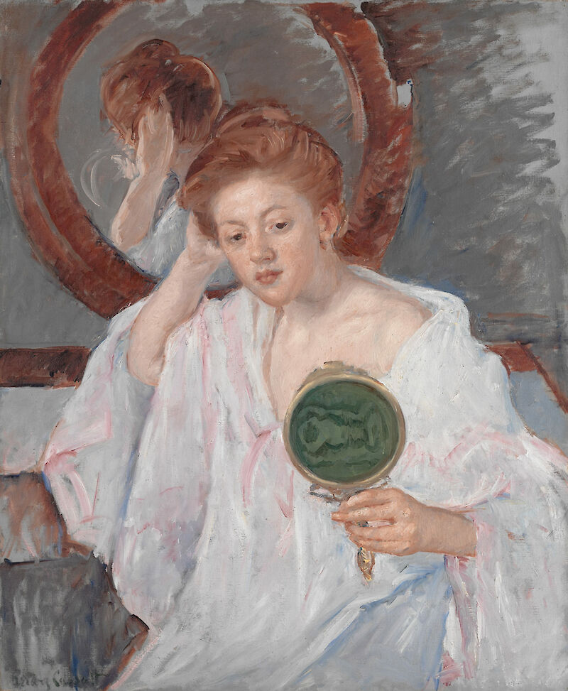 Denise at Her Dressing Table, 1909, Mary Cassatt