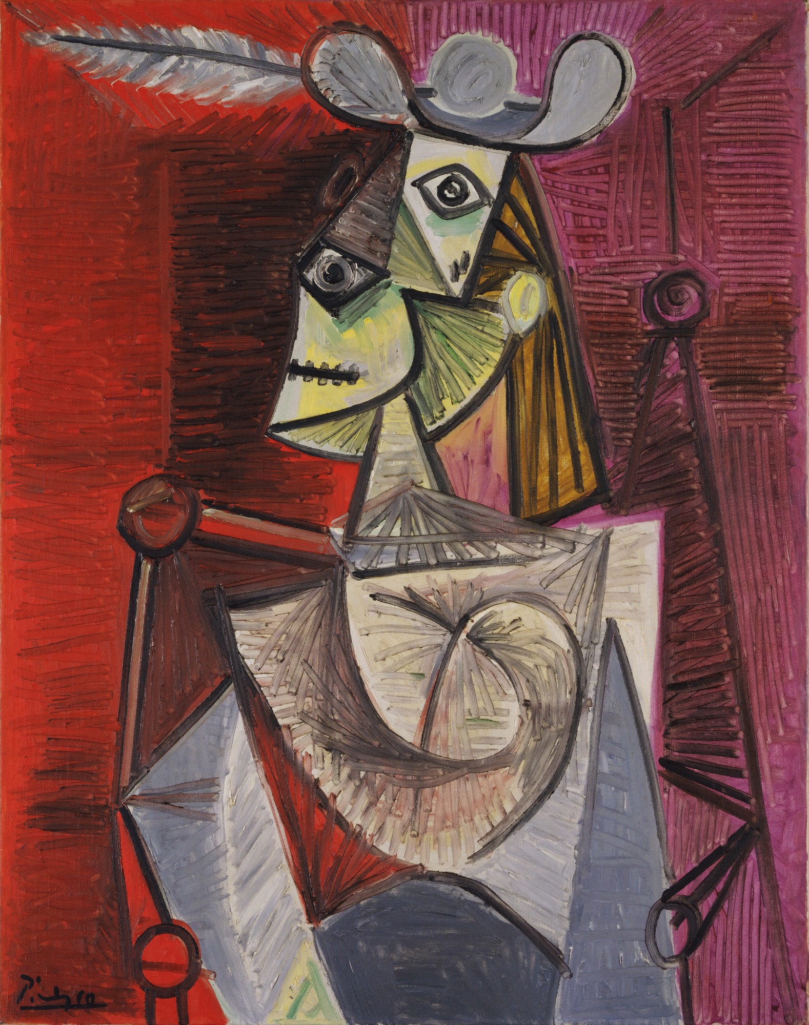 Woman in an Armchair, 1941 — Pablo Picasso