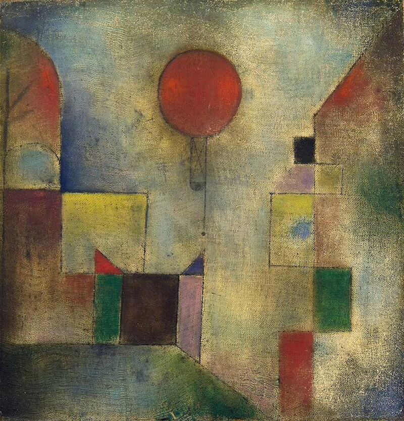 Red Balloon, 1922, Paul Klee
