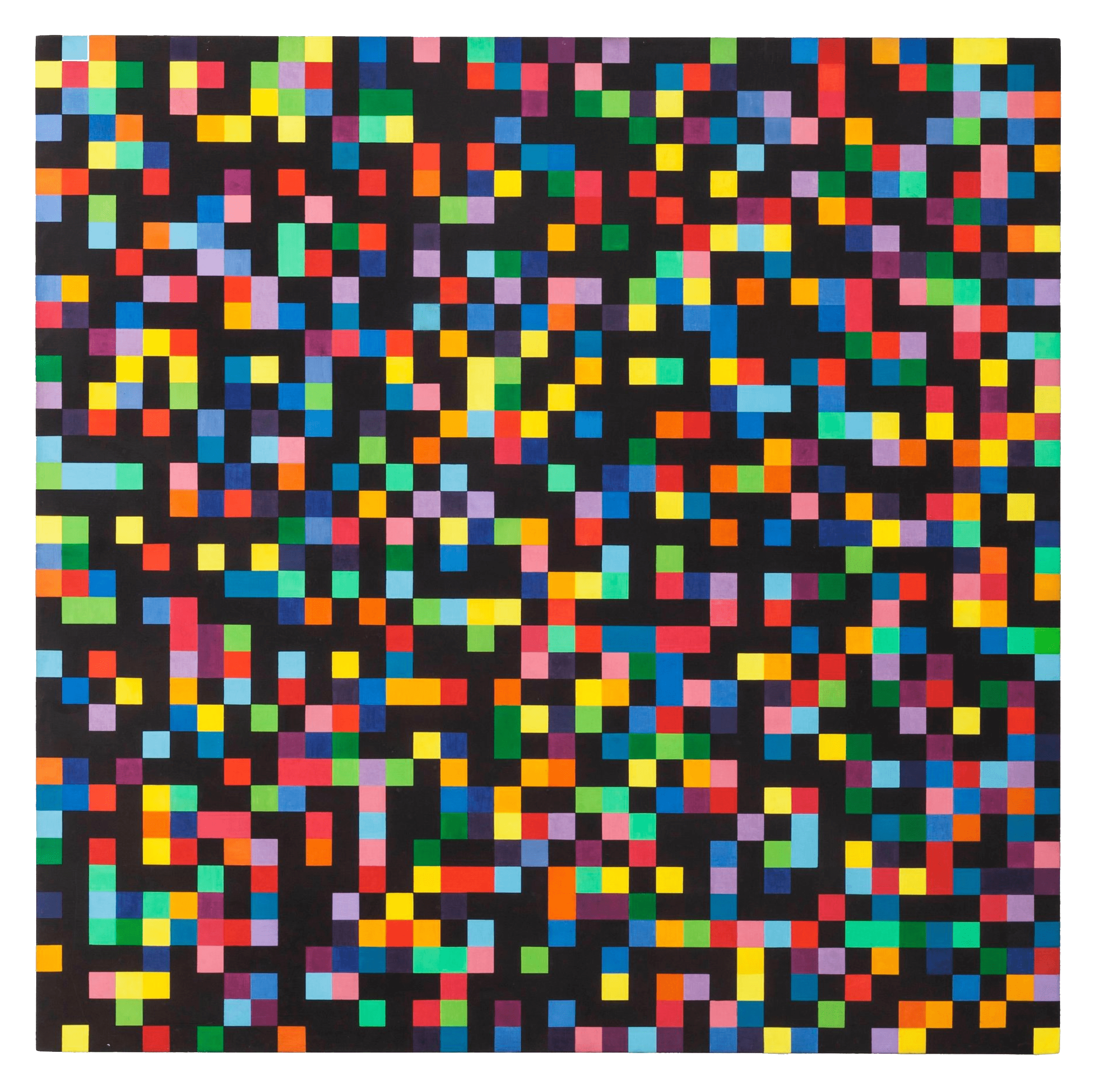 Spectrum Colors Arranged by Chance, 1953 — Ellsworth Kelly