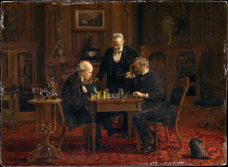 The Chess Players, 1876, Thomas Eakins