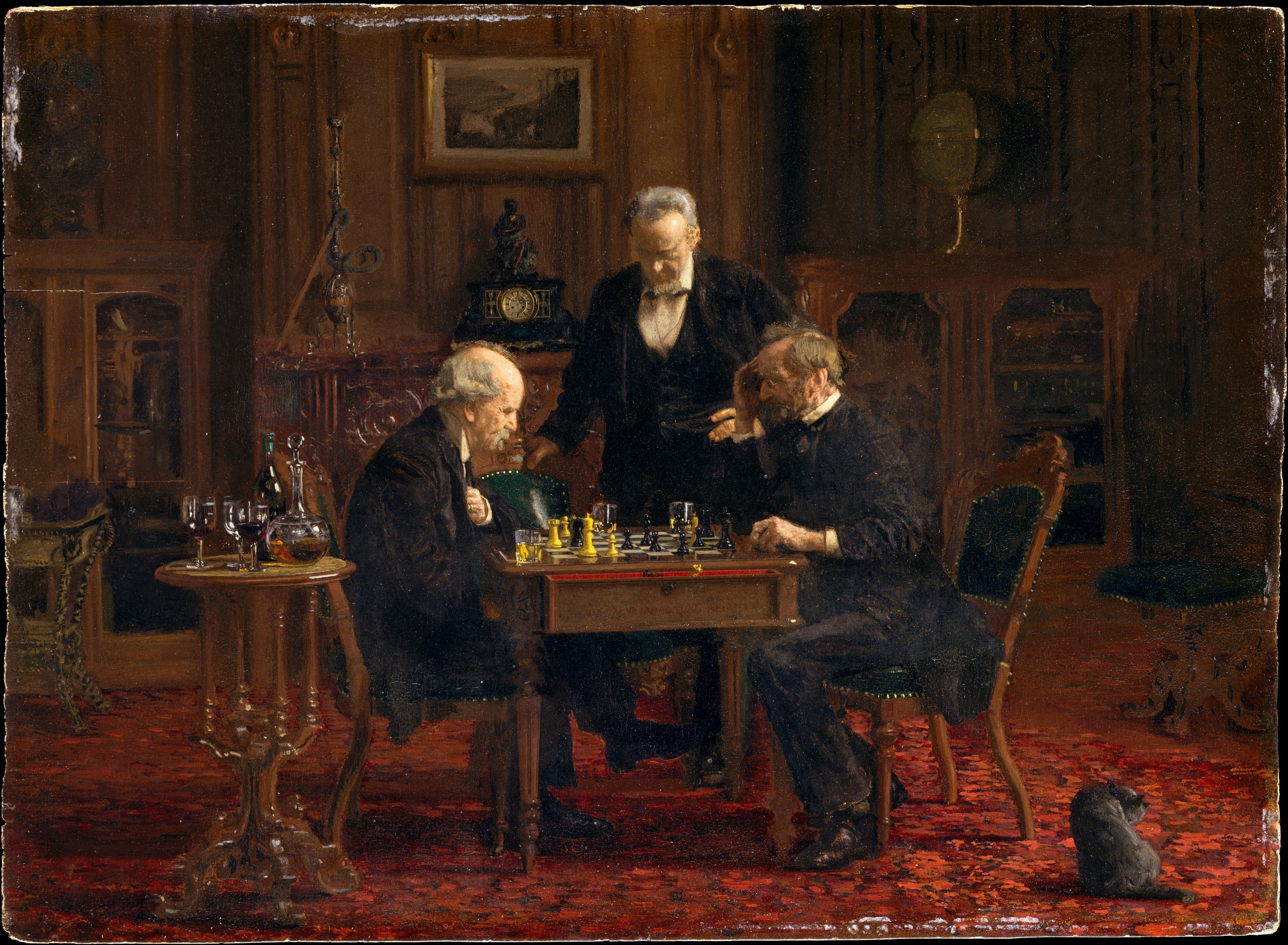 The Chess Players, 1876 — Thomas Eakins,
