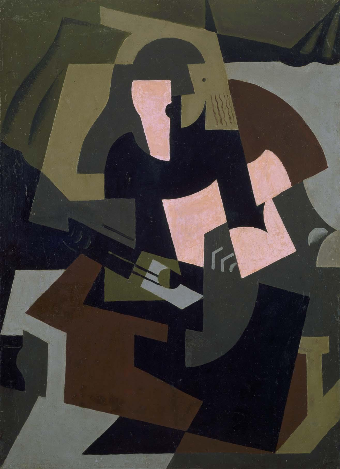 Woman with Guitar, 1917 — María Blanchard,