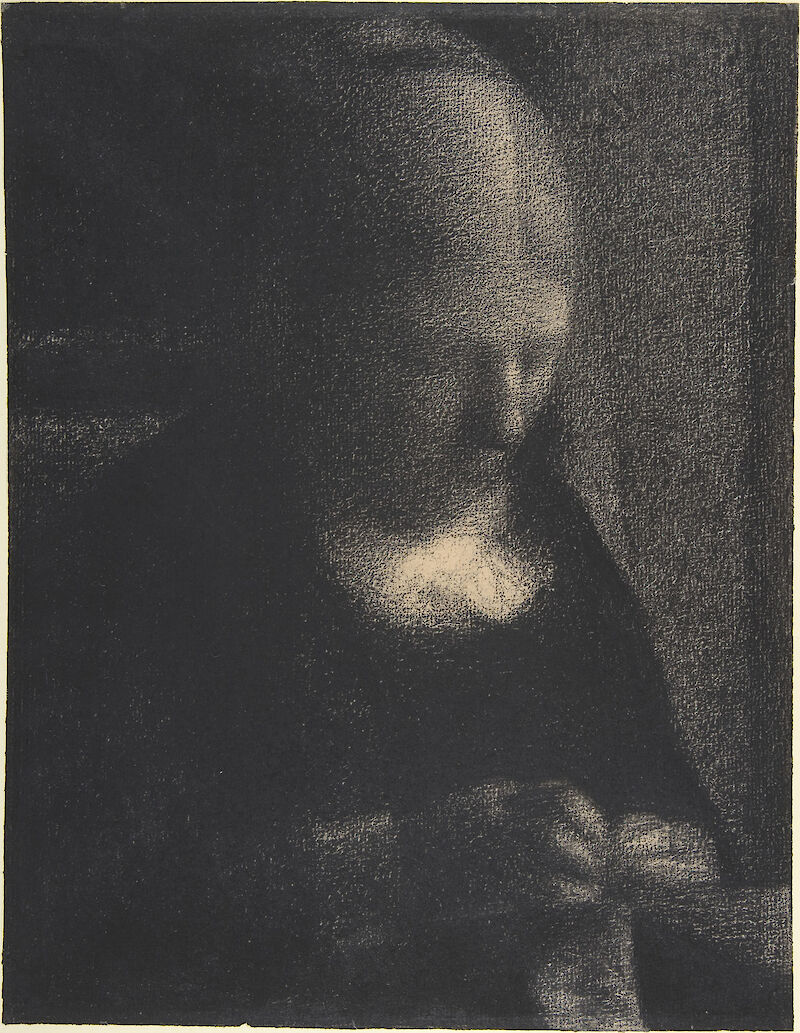 Embroidery; The Artist's Mother, 1883, Georges Seurat