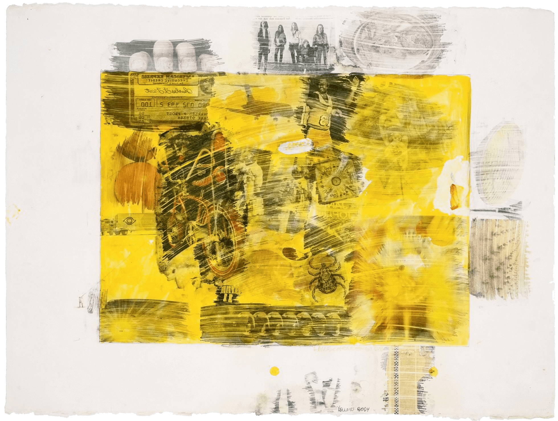 Yellow Body, 1968 — Robert Rauschenberg