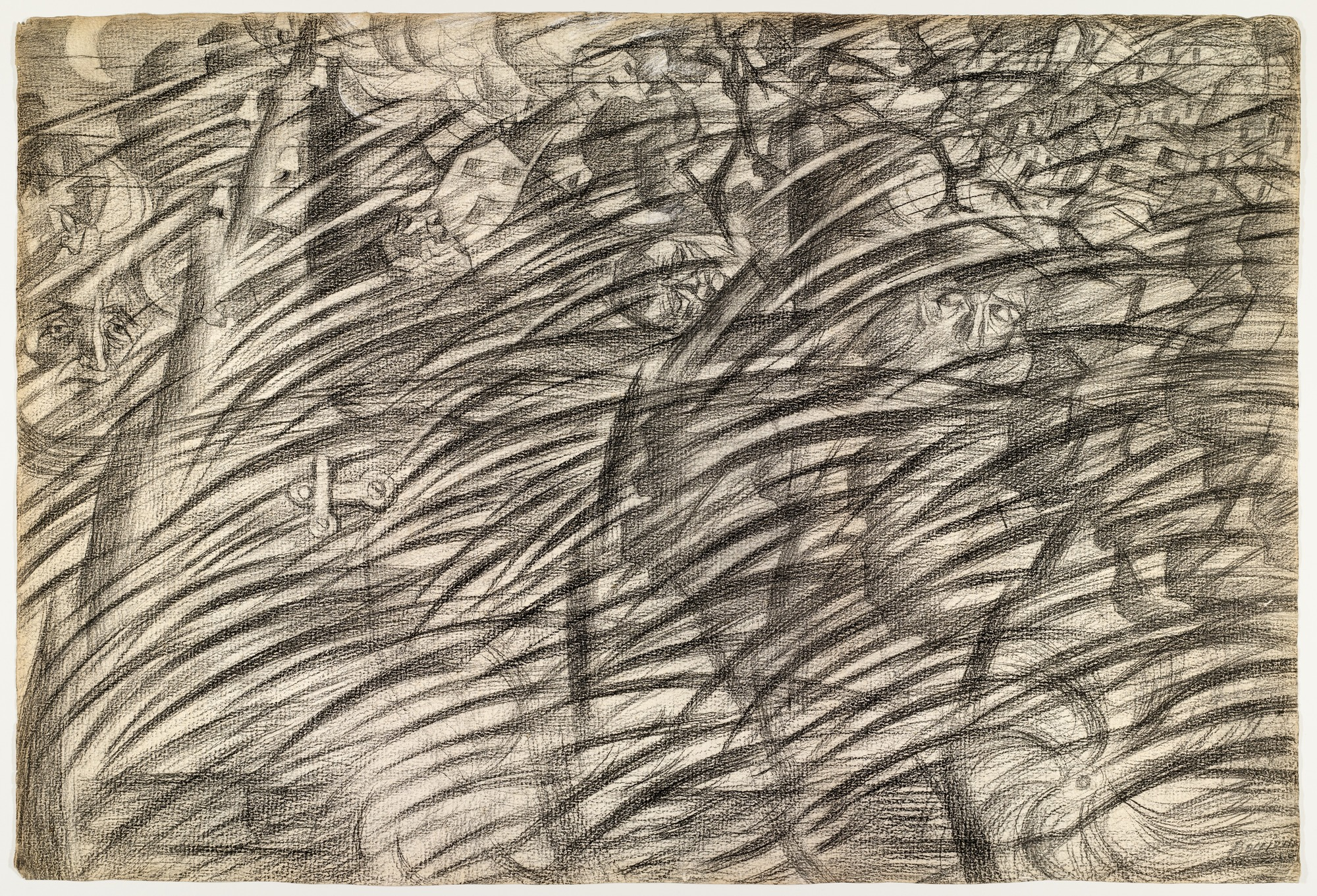 Sketch for States of Mind: Those Who Go, 1911 — Umberto Boccioni