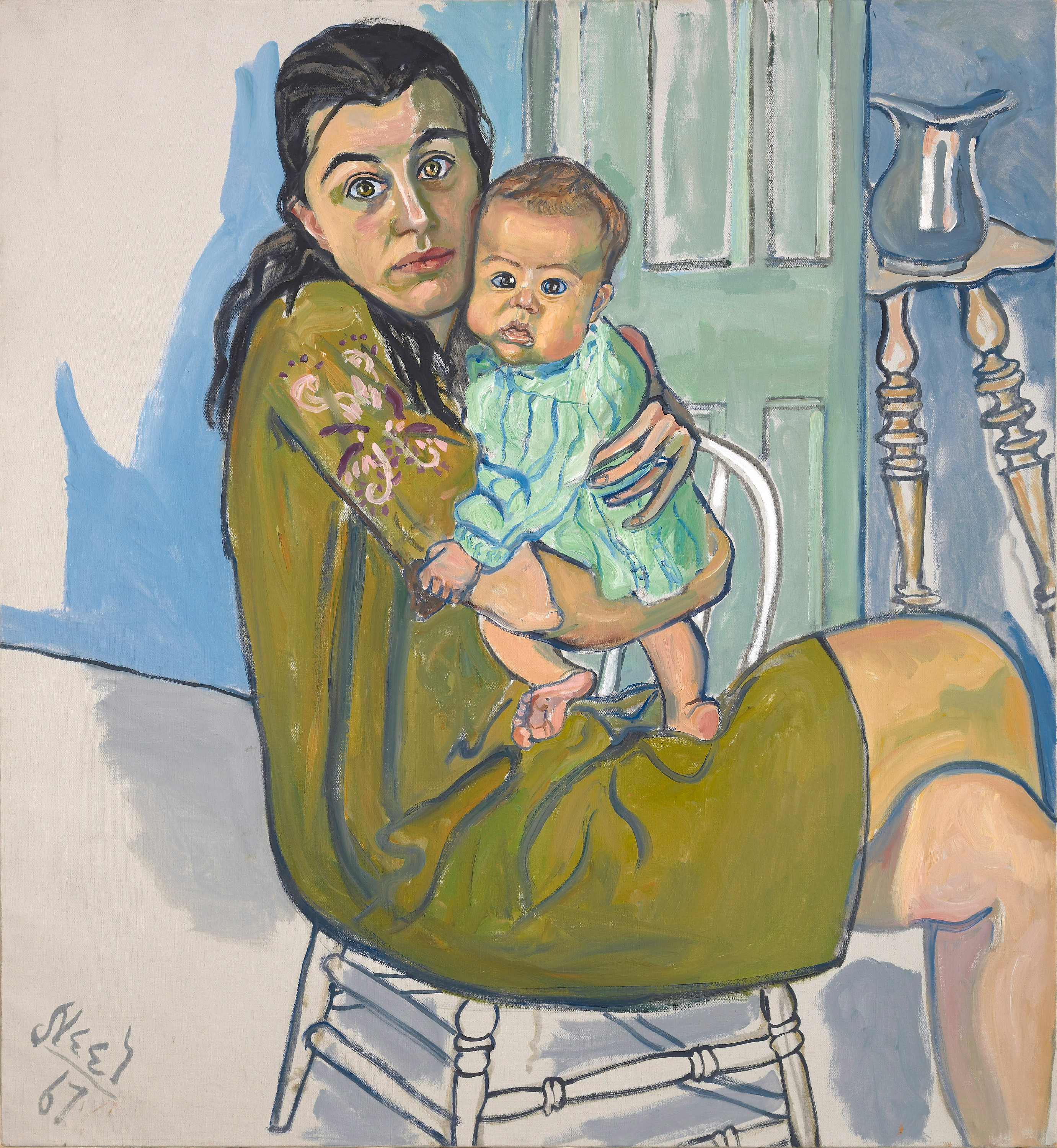 Mother and Child (Nancy and Olivia), 1982 — Alice Neel