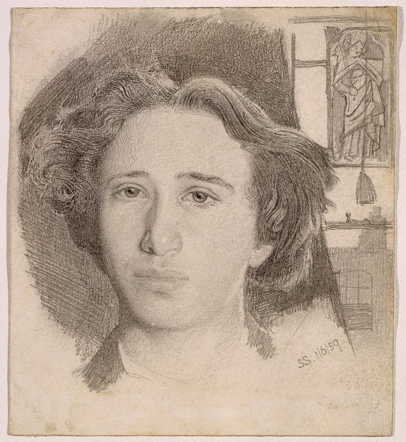 Self-Portrait, 1859 — Simeon Solomon