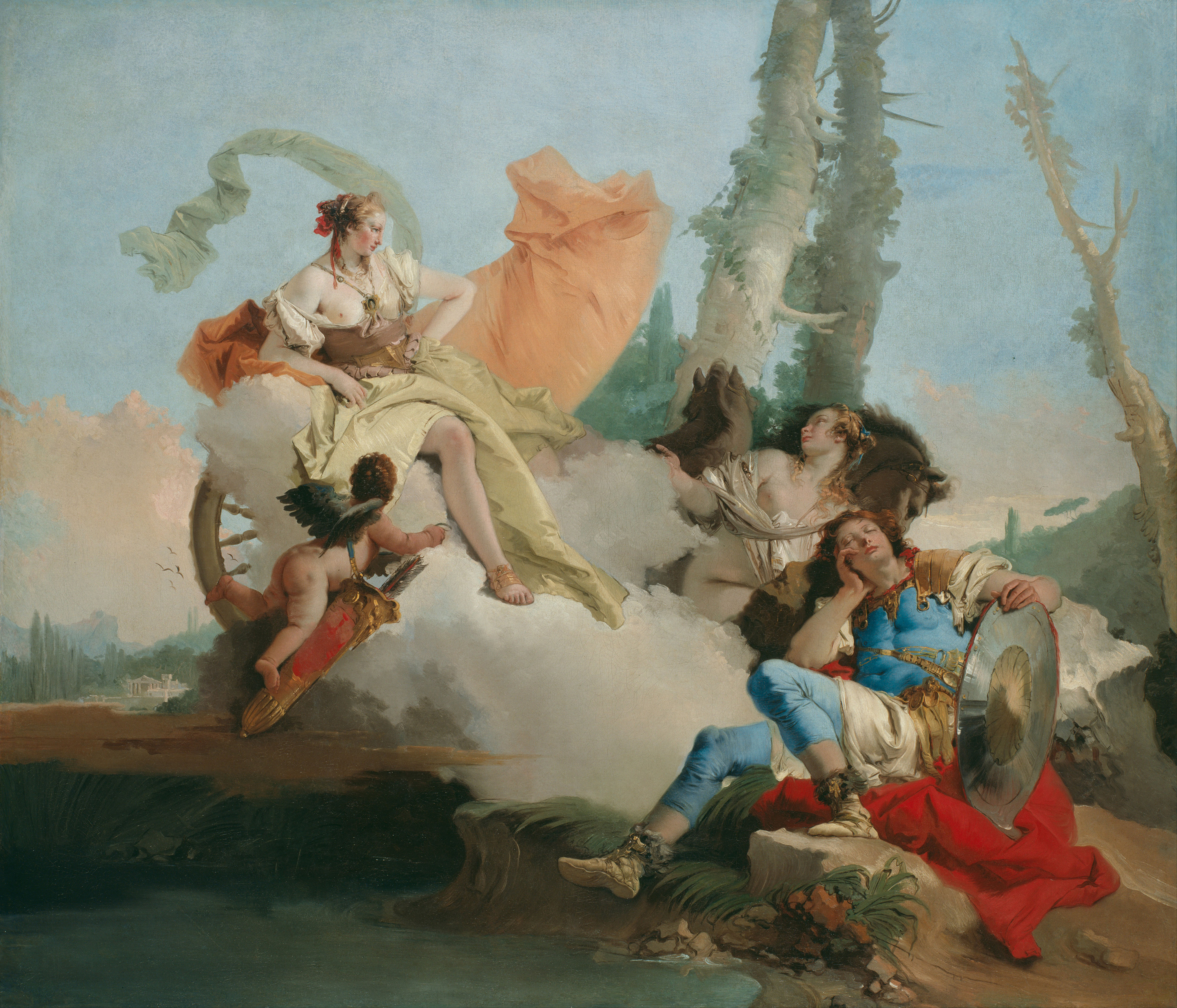 Rinaldo Enchanted by Armida, 1745 — Giovanni Battista Tiepolo,