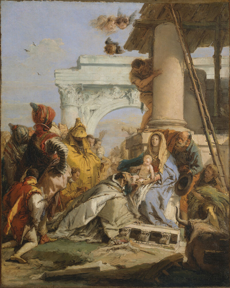 Sketch for the Adoration of the Magi