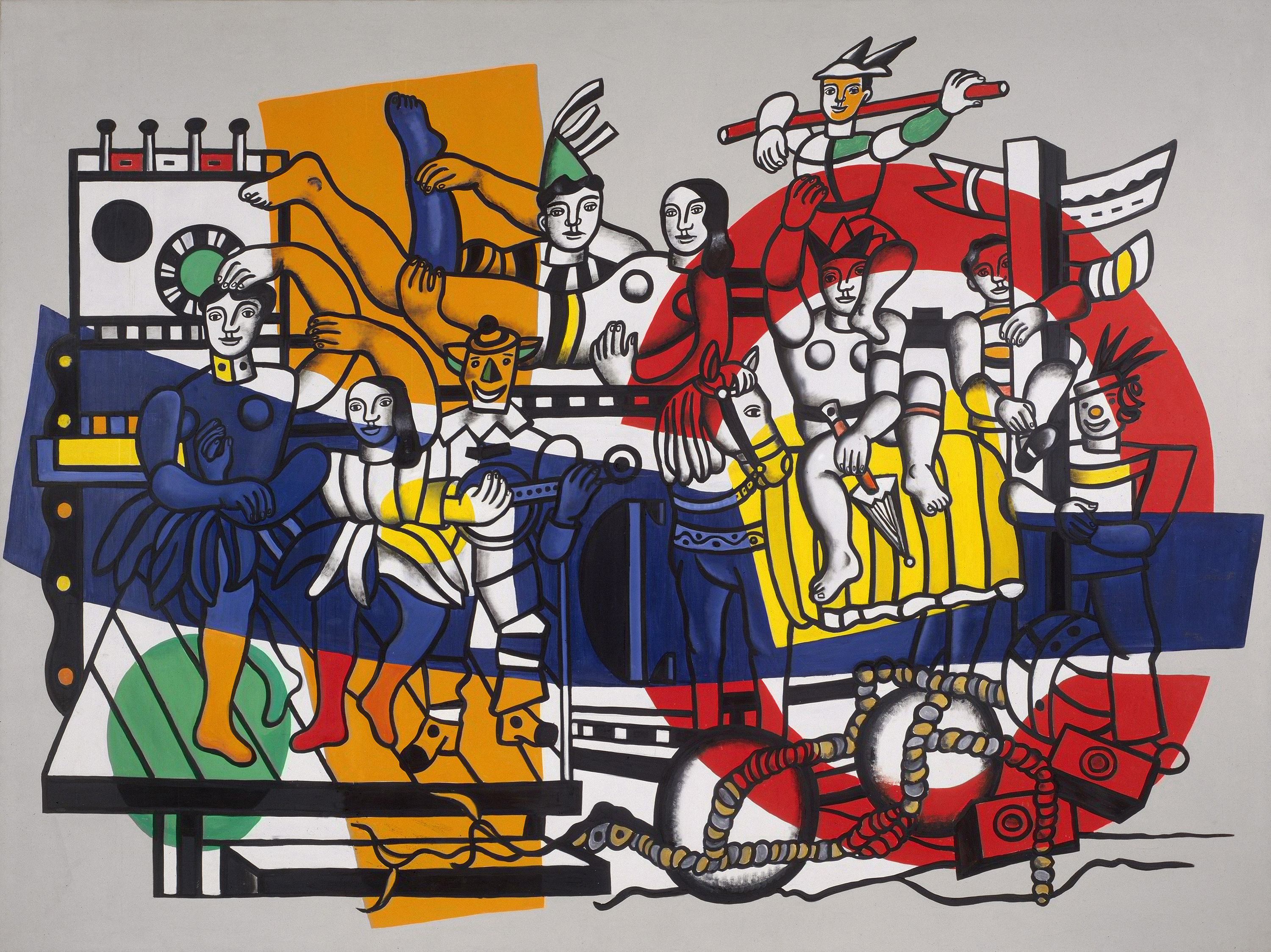 The Great Parade (definitive state), 1954 — Fernand Henri Léger,