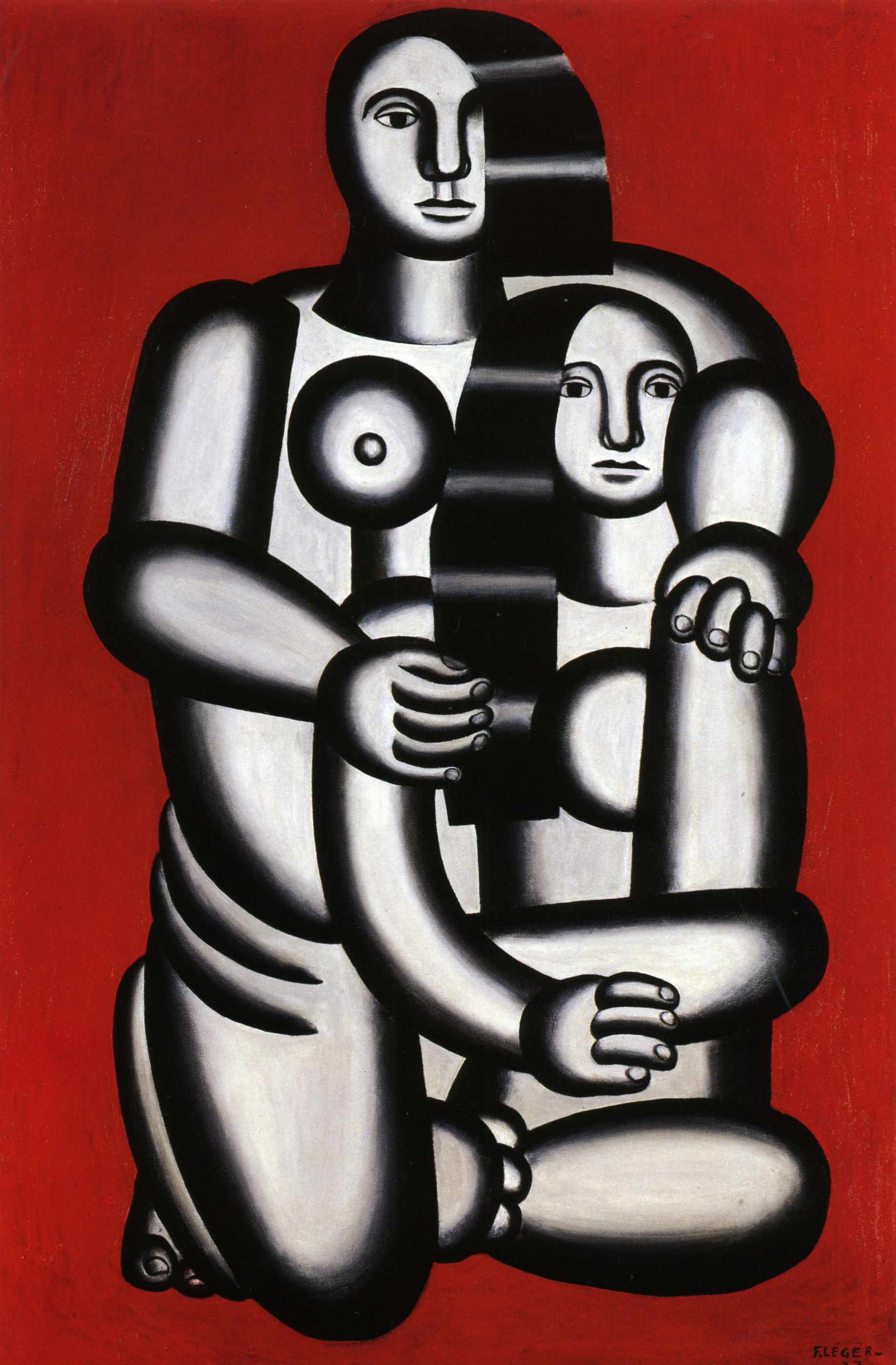Two Figures (Nudes on a red background), 1923 — Fernand Henri Léger,