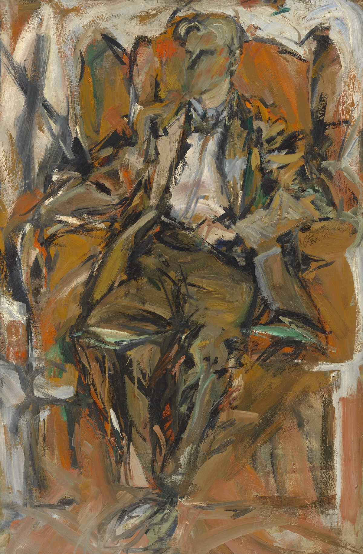 Portrait of Willem de Kooning, 1952 — Elaine de Kooning