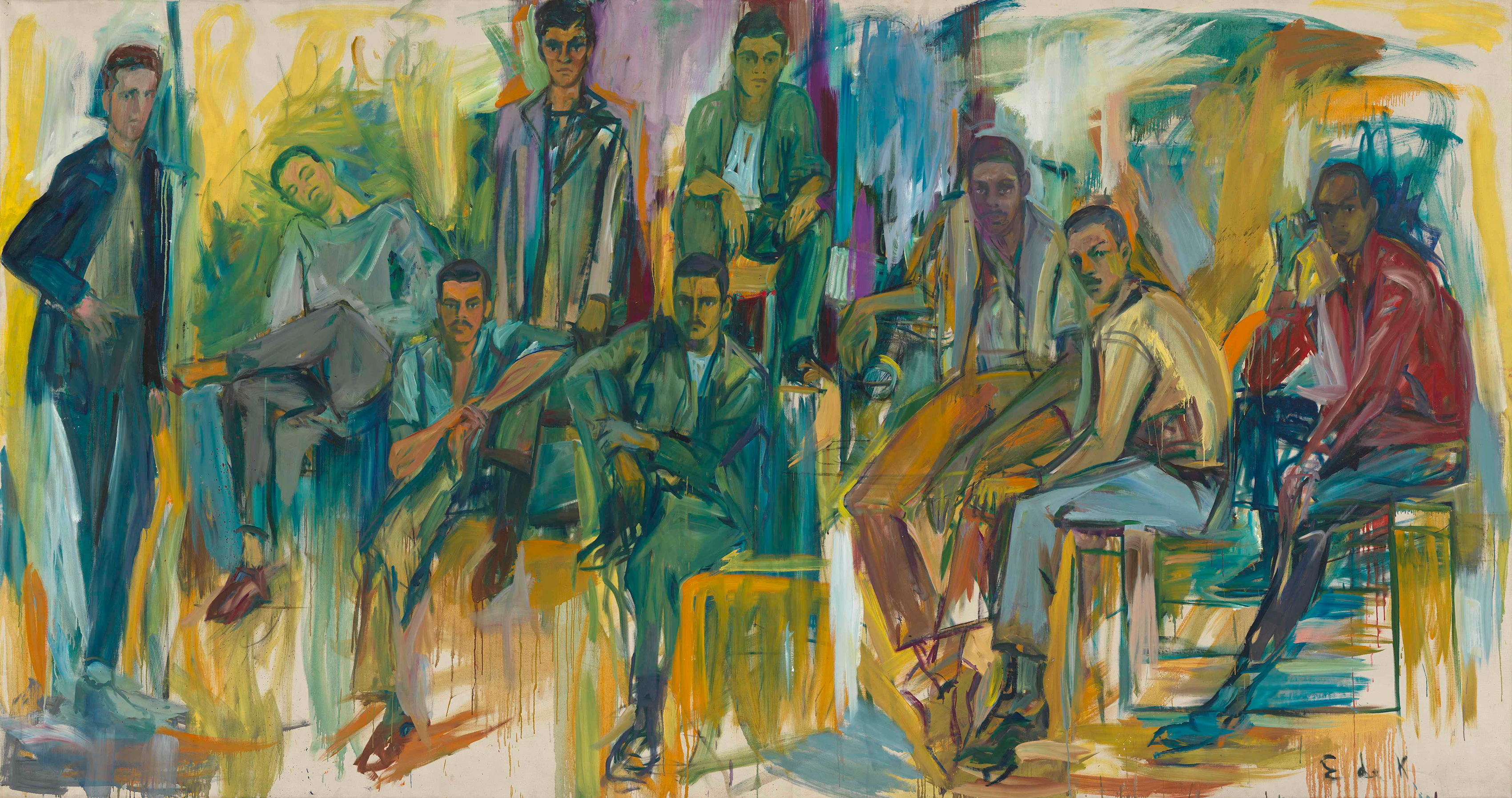 The Burghers of Amsterdam Avenue, 1963 — Elaine de Kooning