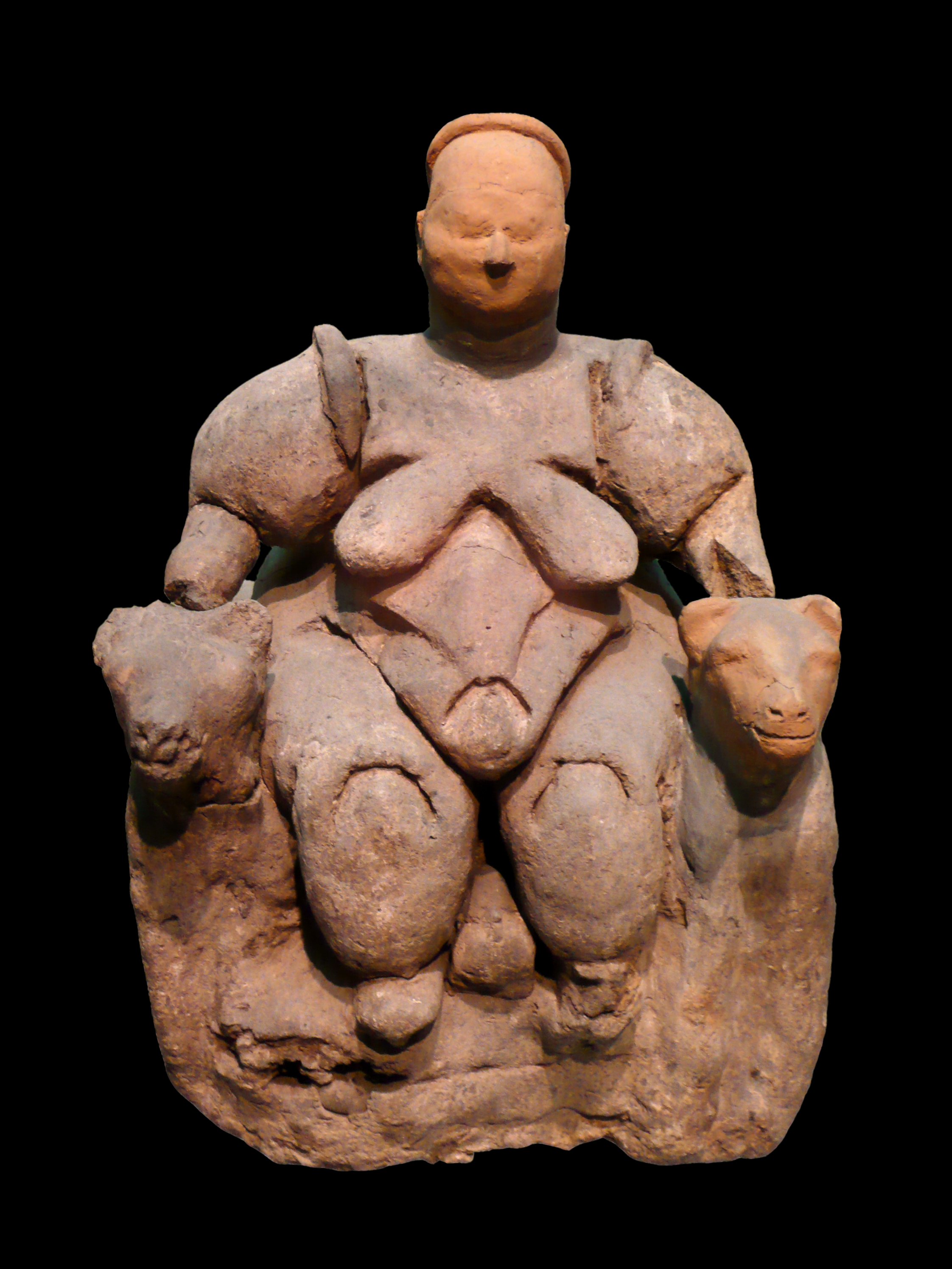 Seated Woman of Çatalhöyük, 6000 BCE — Neolithic