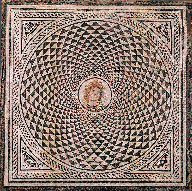 Mosaic Floor with Head of Medusa