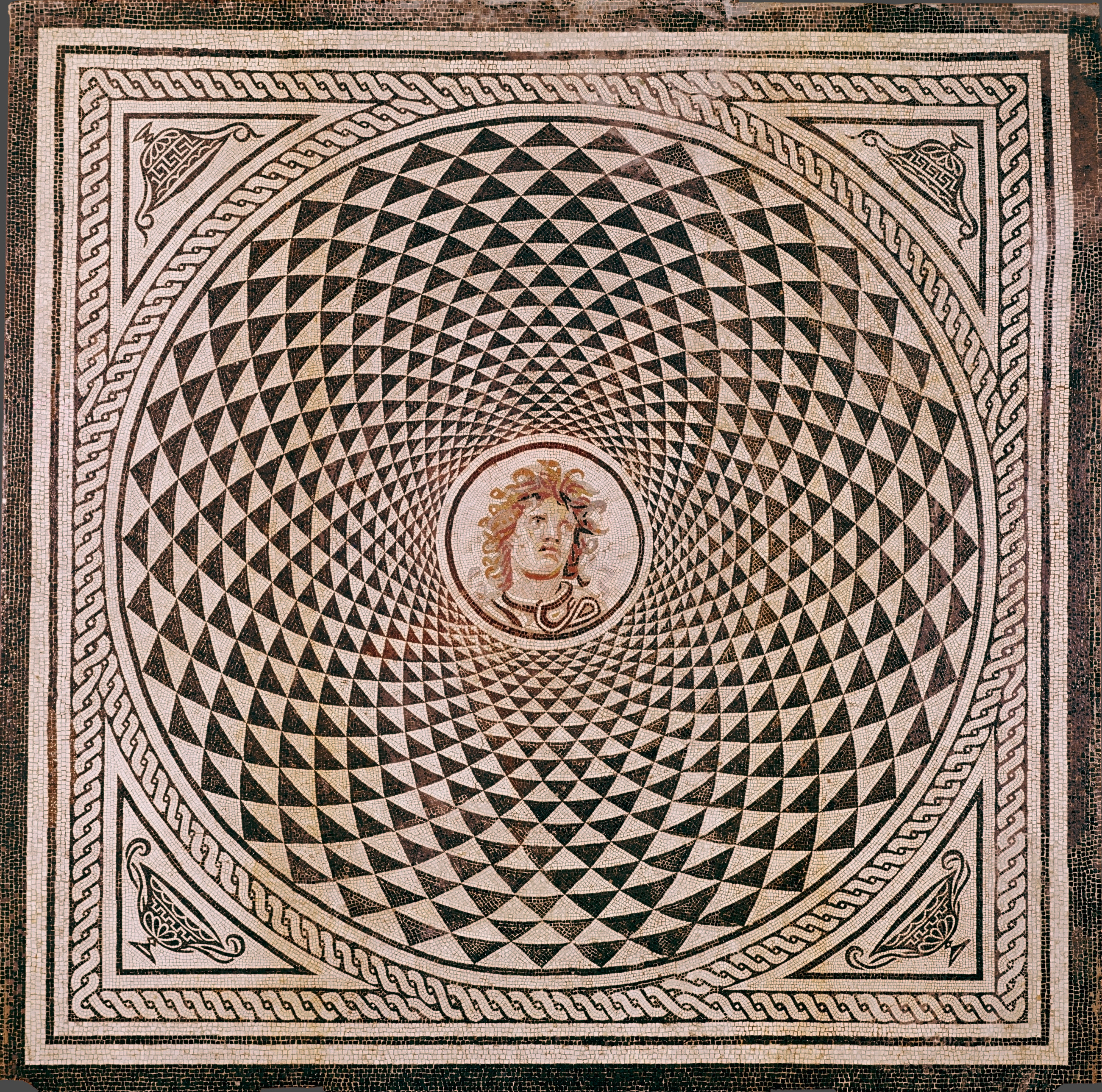 Mosaic Floor with Head of Medusa, 150 CE — Ancient Rome,